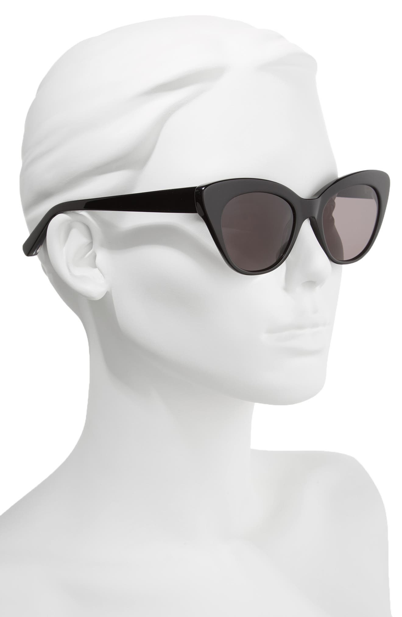 ELIZABETH AND JAMES, Vale 52mm Cat Eye Sunglasses, Alternate thumbnail 2, color, 020
