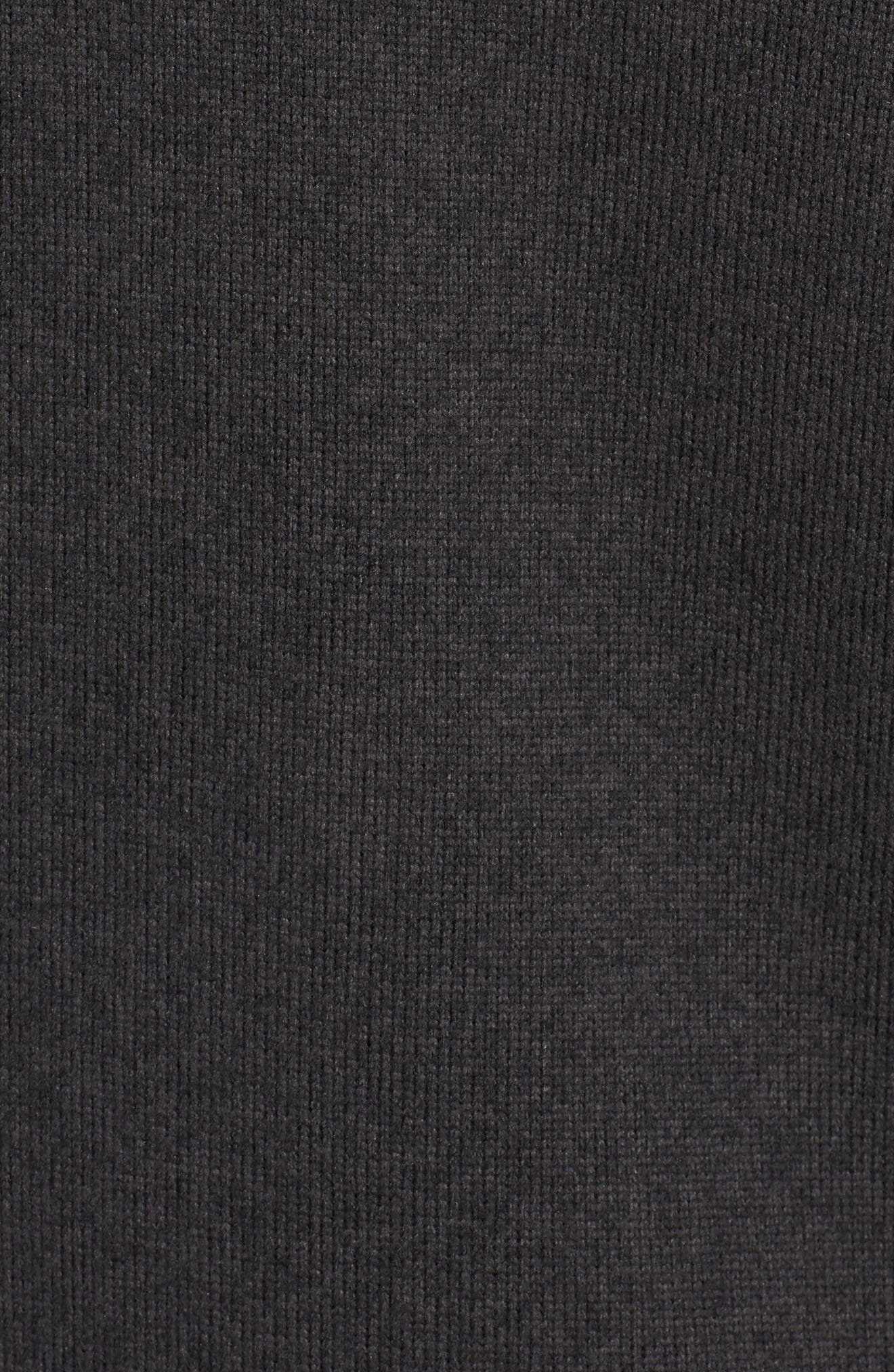 THE NORTH FACE, Gordon Lyons Quarter-Zip Fleece Jacket, Alternate thumbnail 6, color, 001