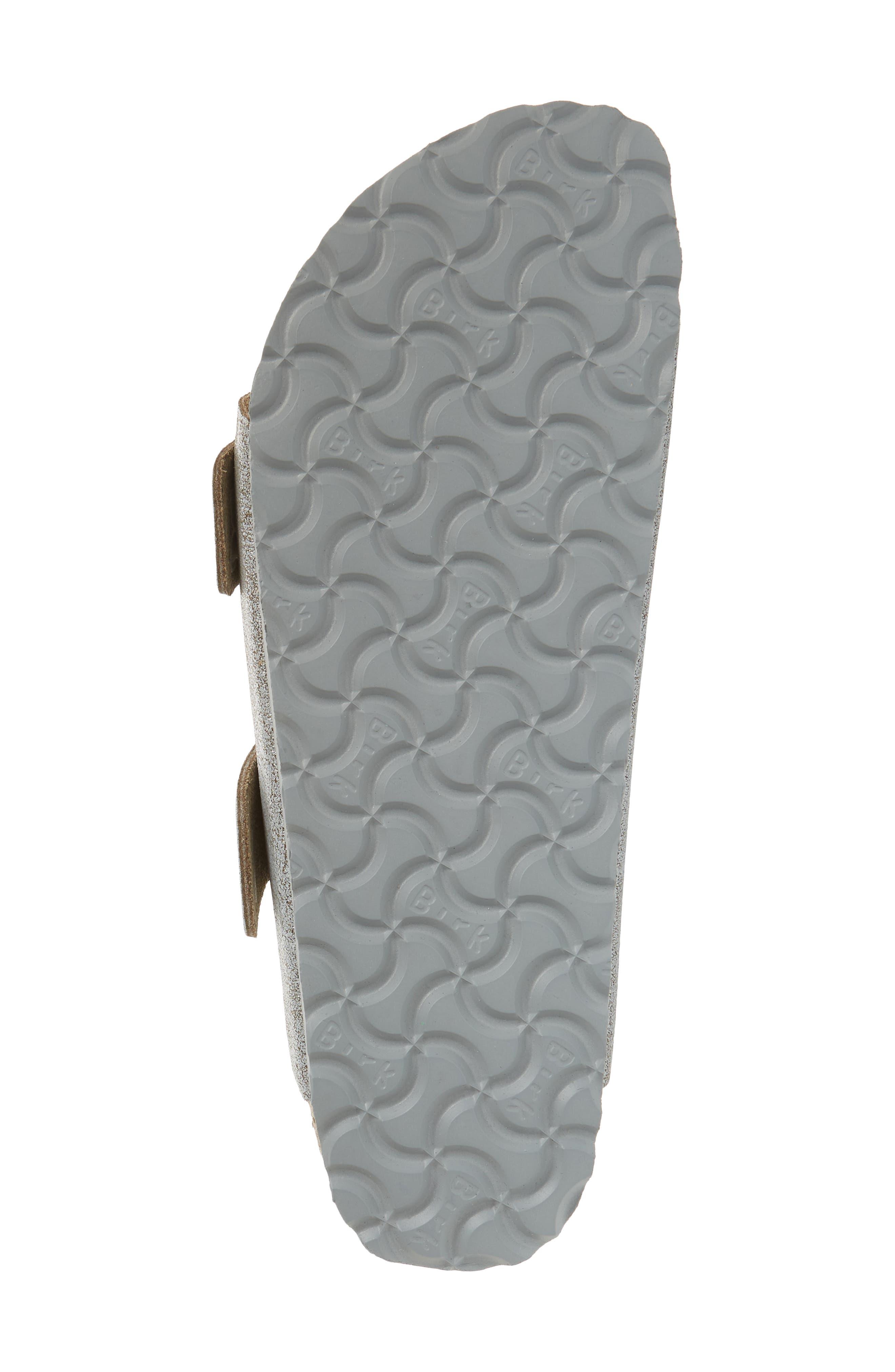 BIRKENSTOCK, Arizona Big Buckle Slide Sandal, Alternate thumbnail 6, color, WASHED METALLIC BLUE LEATHER