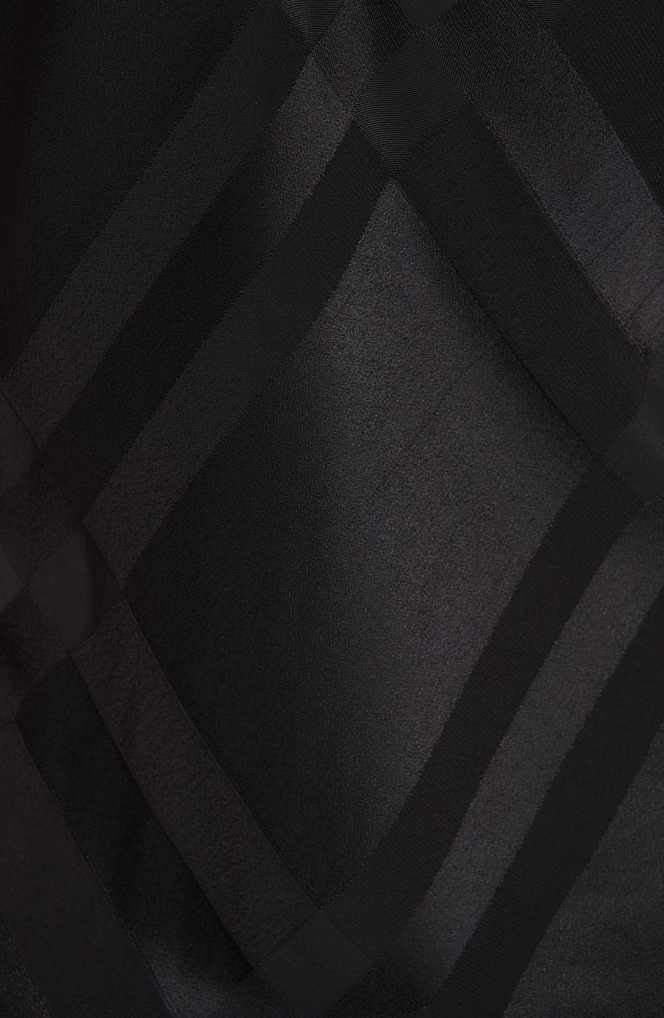 TED BAKER LONDON, Elten Mesh Trim Camisole, Alternate thumbnail 5, color, BLACK