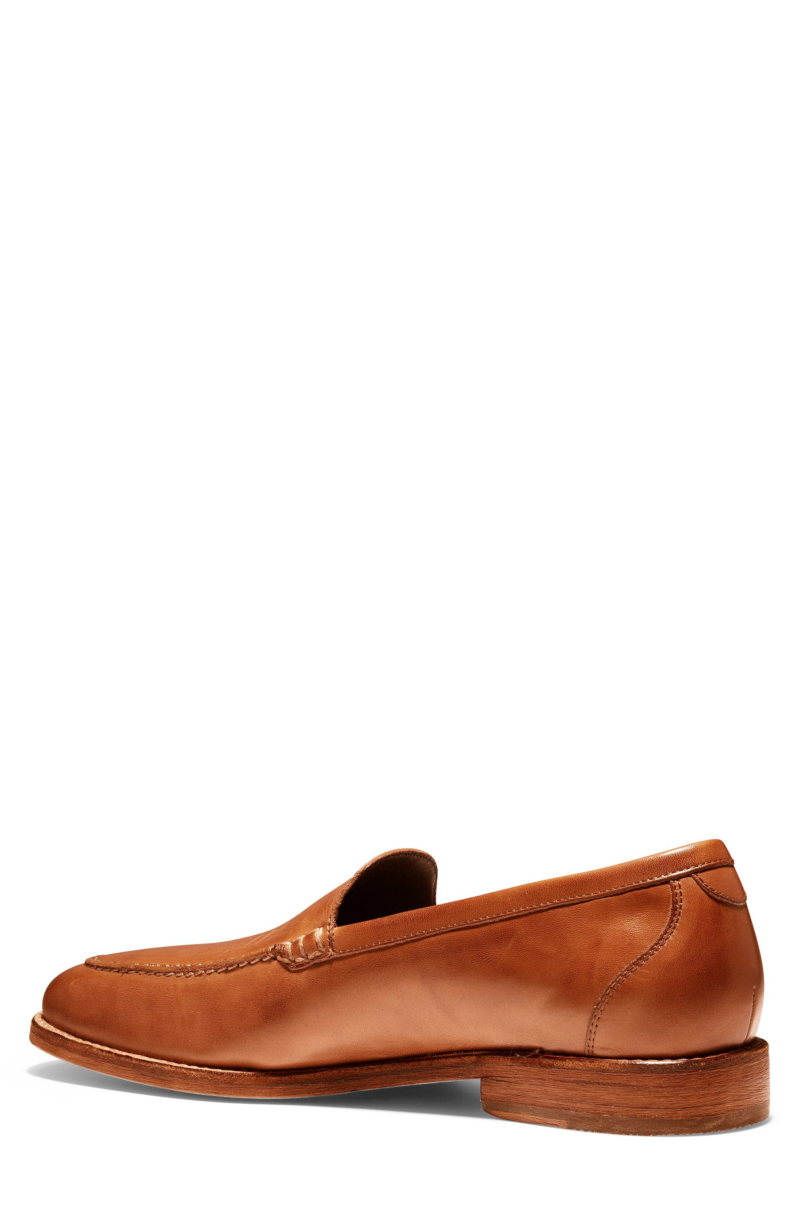 COLE HAAN, Feathercraft Grand Venetian Loafer, Alternate thumbnail 2, color, BRITISH TAN LEATHER