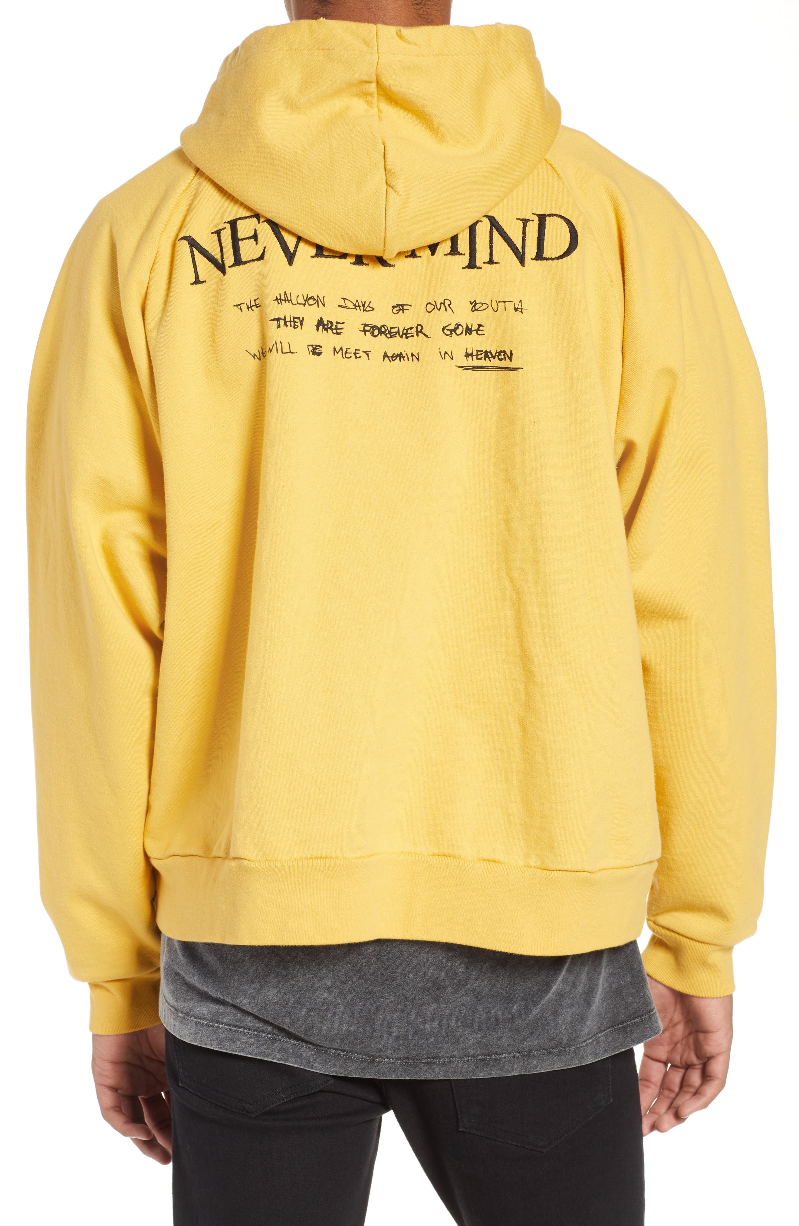 THE KOOPLES, Oversize Hoodie, Alternate thumbnail 2, color, YELLOW