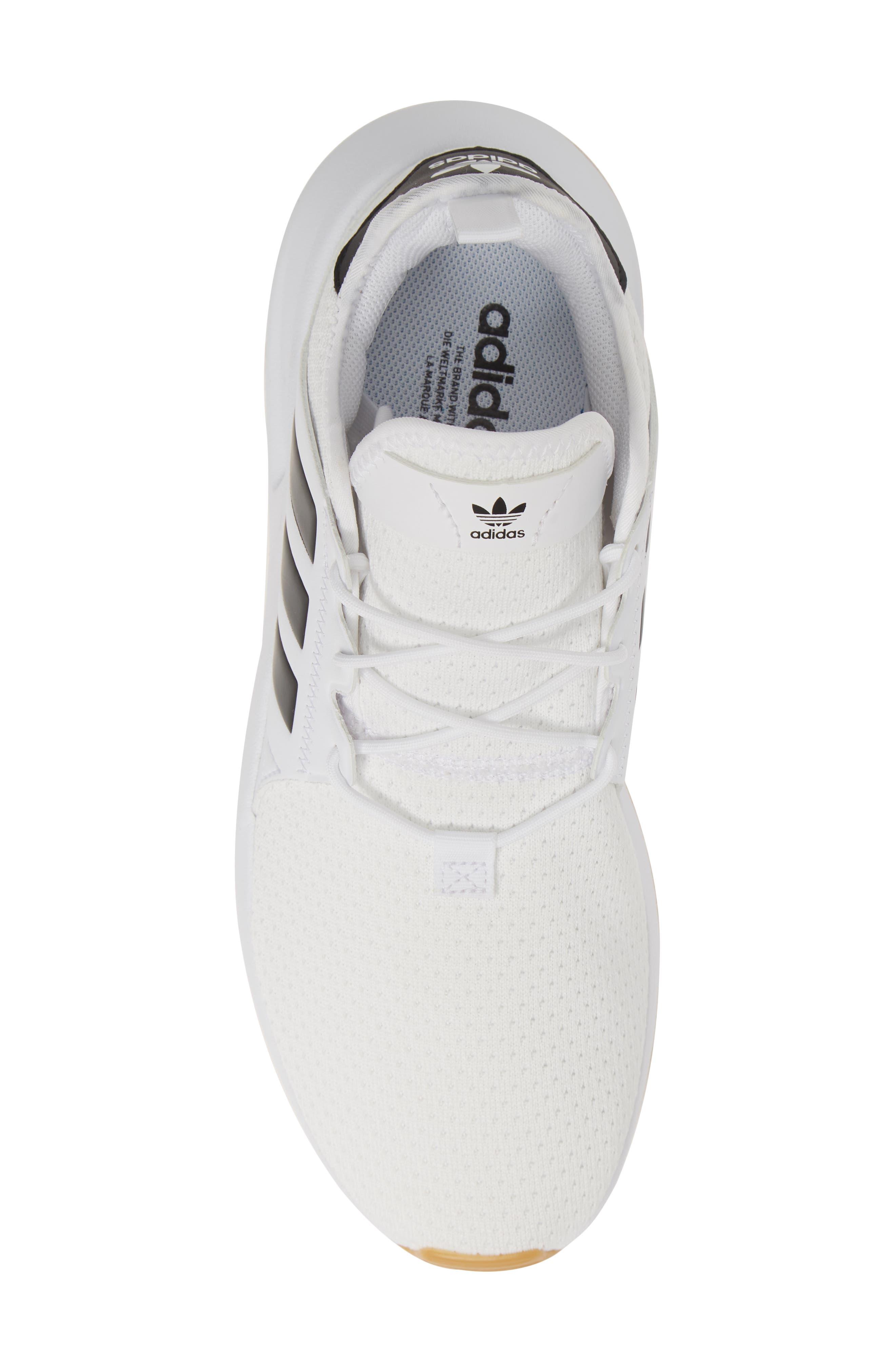 ADIDAS, X_PLR Sneaker, Alternate thumbnail 5, color, WHITE/ CORE BLACK/ GUM