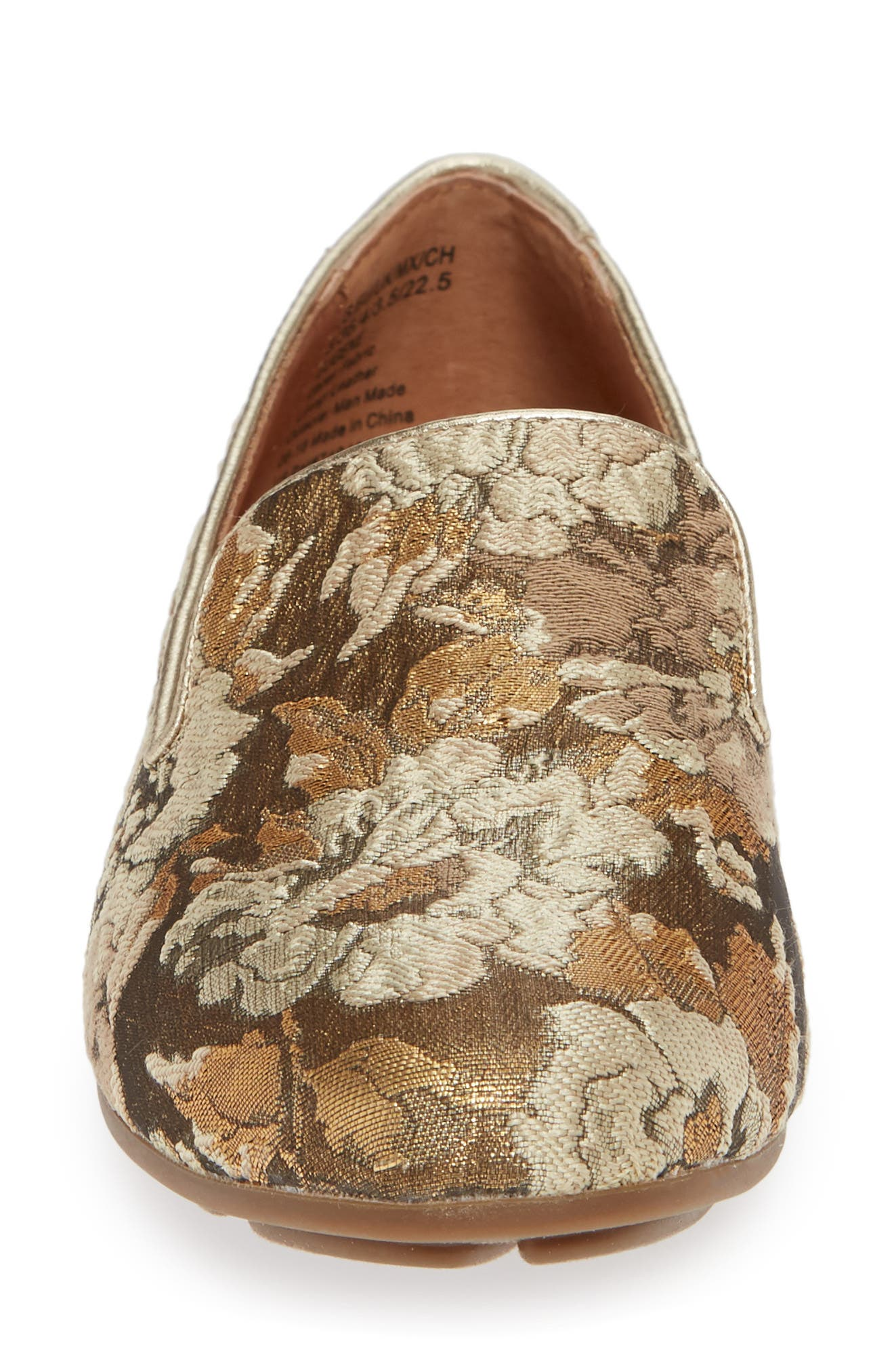 GENTLE SOULS BY KENNETH COLE, Eugene Flat, Alternate thumbnail 4, color, GOLD MULTI FABRIC