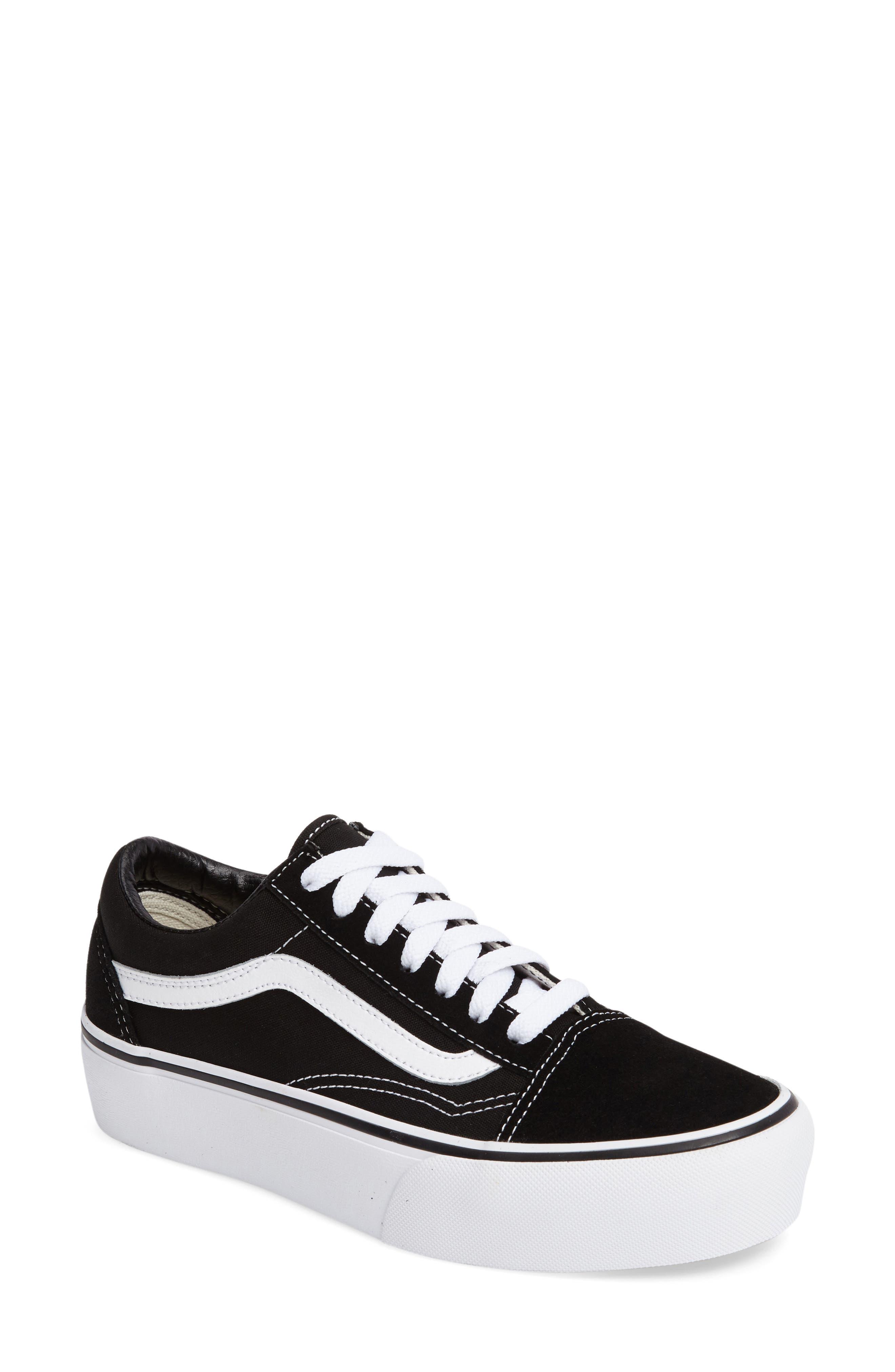 VANS Old Skool Platform Sneaker, Main, color, BLACK/ WHITE