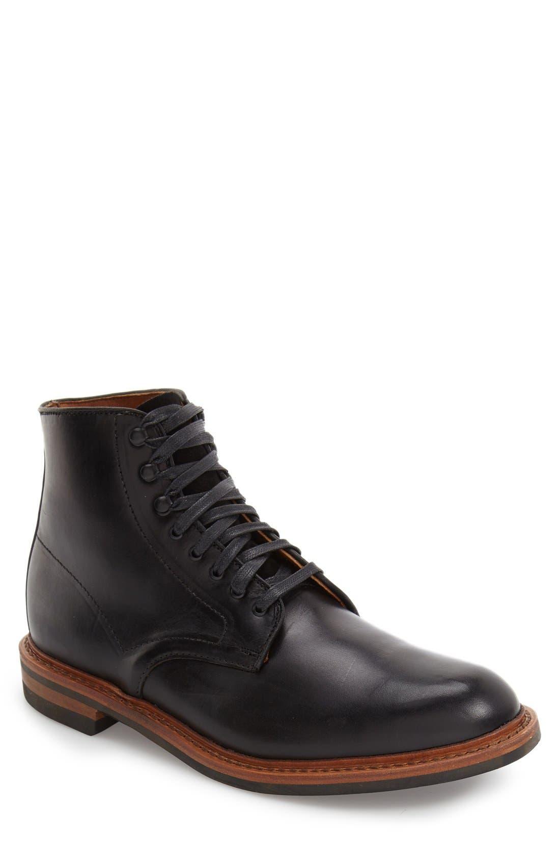 ALLEN EDMONDS 'Higgins Mill' Plain Toe Boot, Main, color, 001