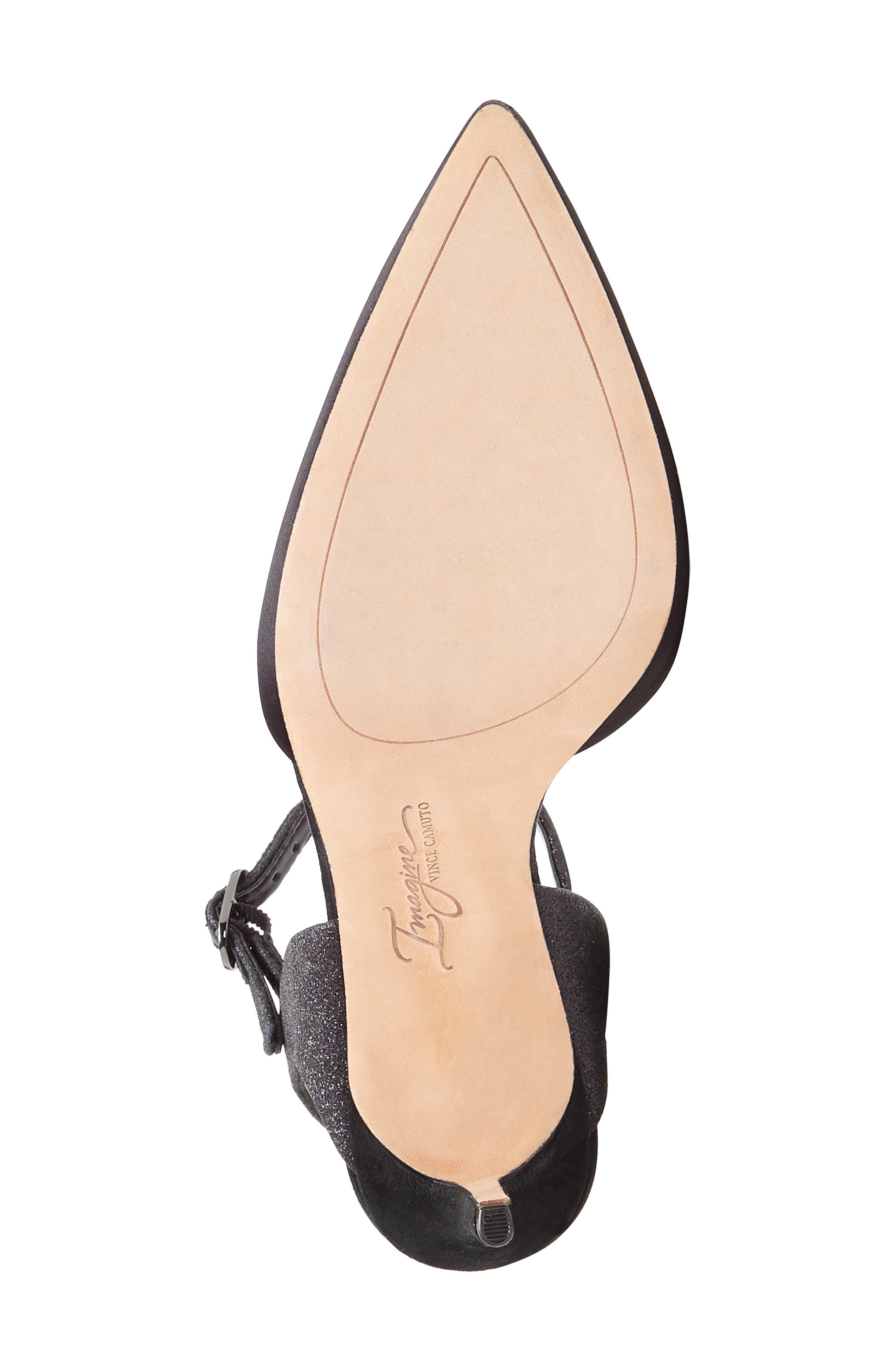 IMAGINE BY VINCE CAMUTO, Glora Pointy Toe Pump, Alternate thumbnail 6, color, BLACK SATIN