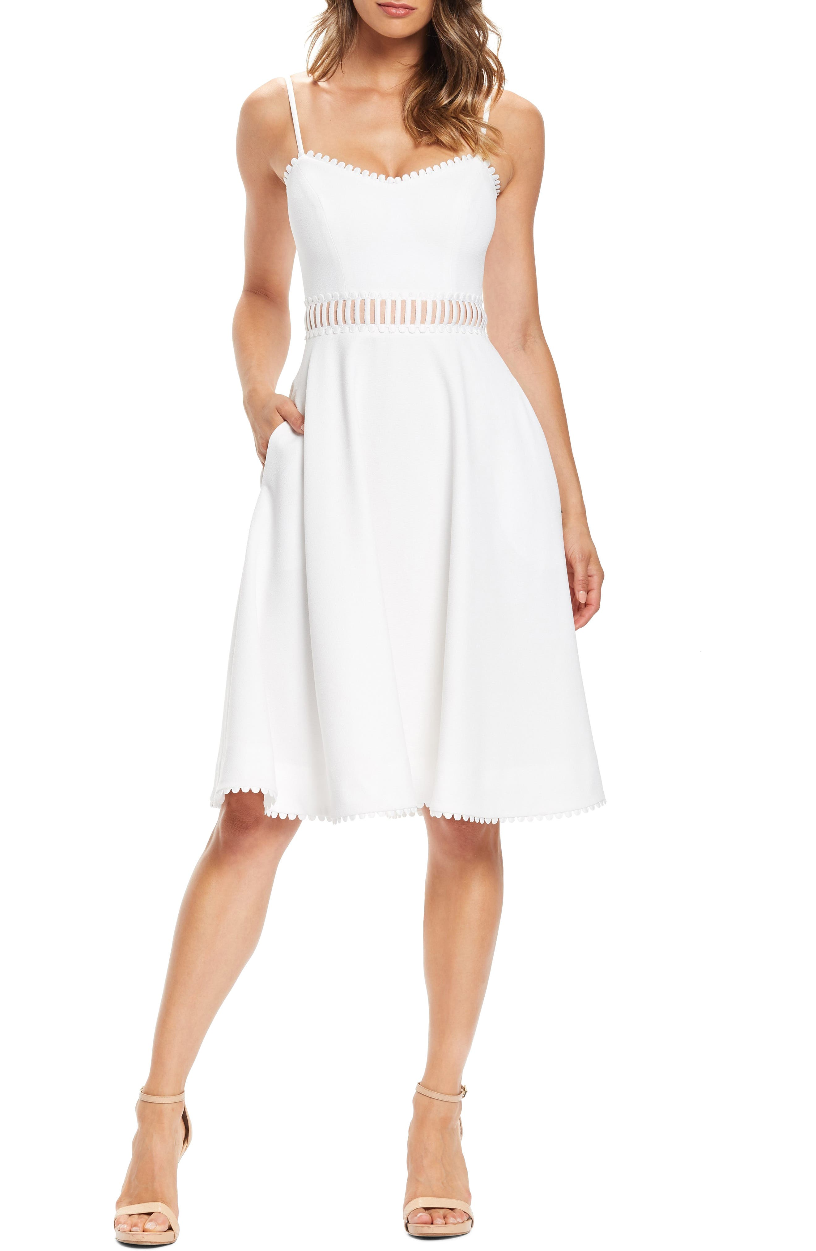 Dress The Population Harlow A-Line Cocktail Dress, Ivory