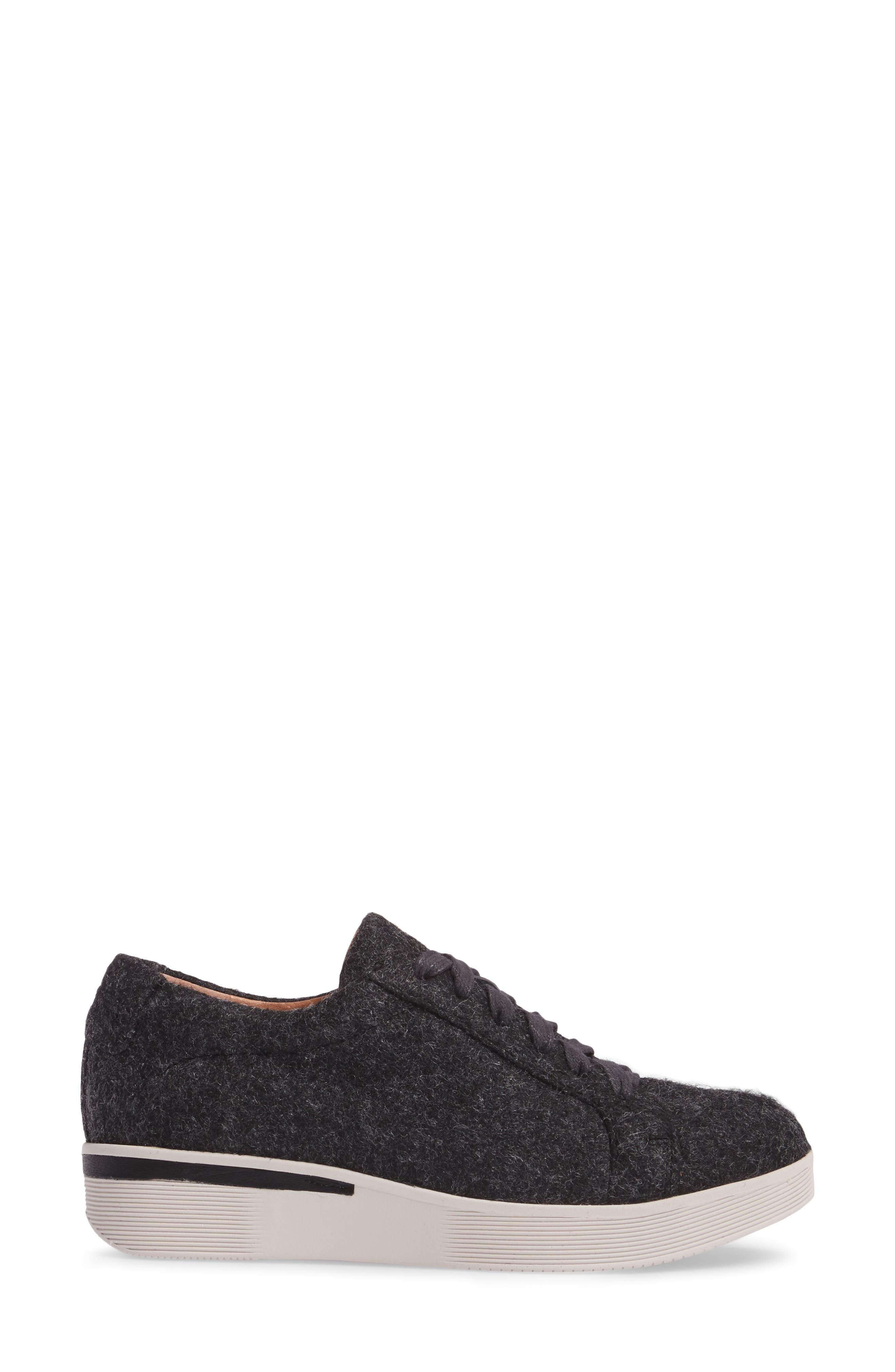 GENTLE SOULS BY KENNETH COLE, Haddie Low Platform Sneaker, Alternate thumbnail 3, color, HEATHER GREY WOOL