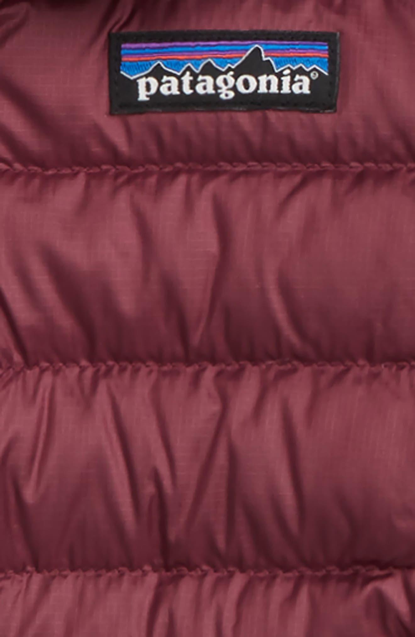 PATAGONIA, Down Sweater Jacket, Alternate thumbnail 2, color, DARK CURRANT