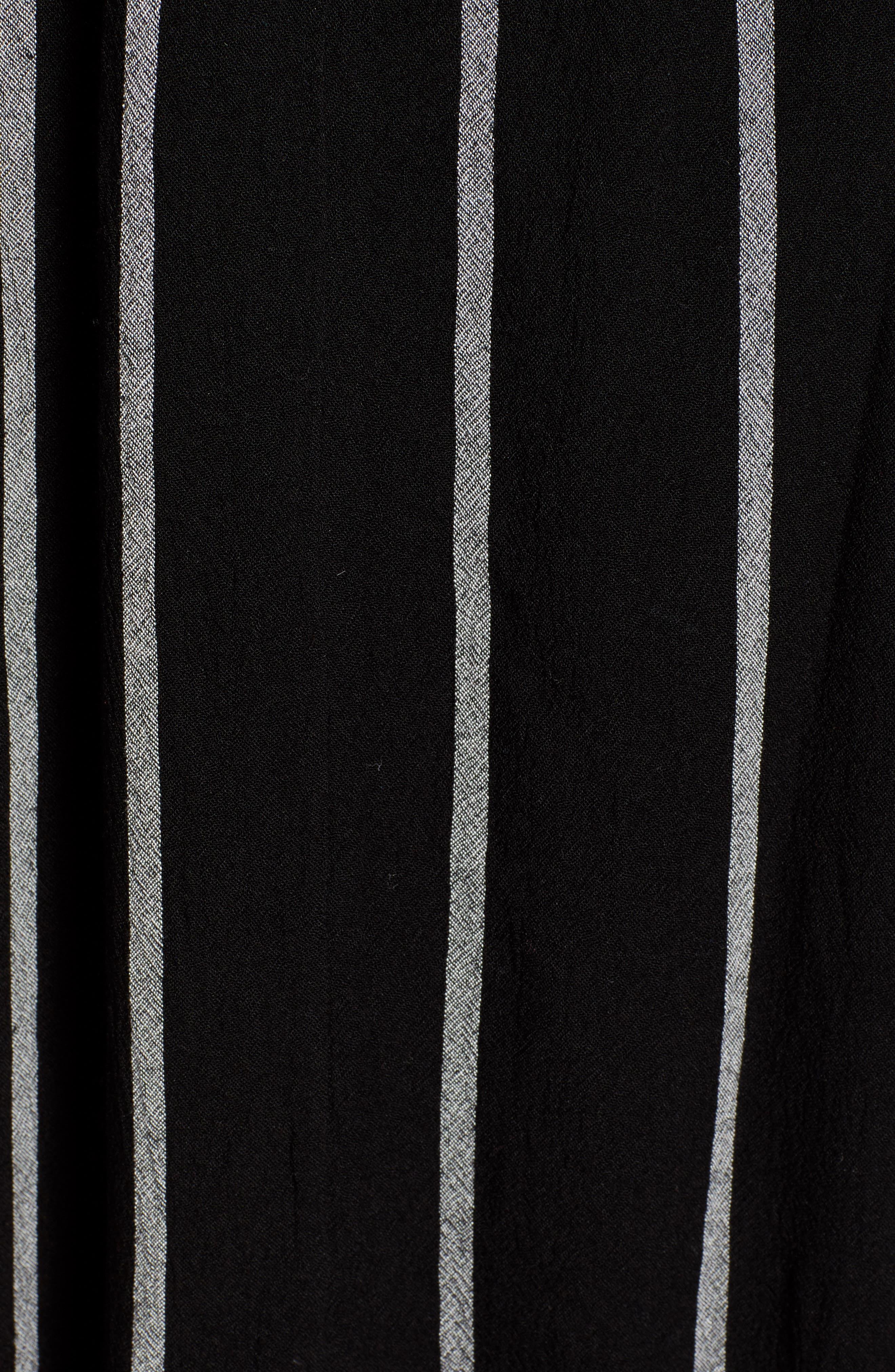 BILLABONG, Forever Fine Dress, Alternate thumbnail 5, color, BLACK