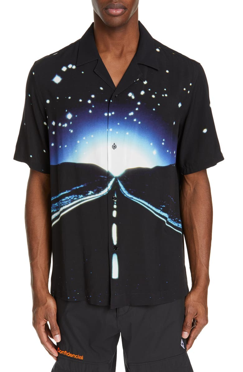 Marcelo Burlon County Of Milan T-shirts CLOSE ENCOUNTERS ALL OVER HIGHWAY CAMP SHIRT