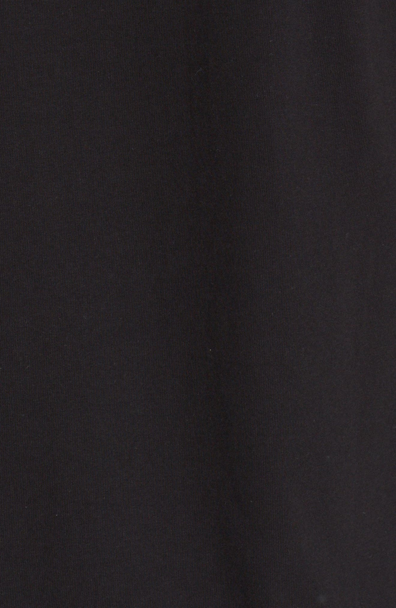 COMME DES GARÇONS PLAY, Twin Hearts Jersey T-Shirt, Alternate thumbnail 5, color, BLACK