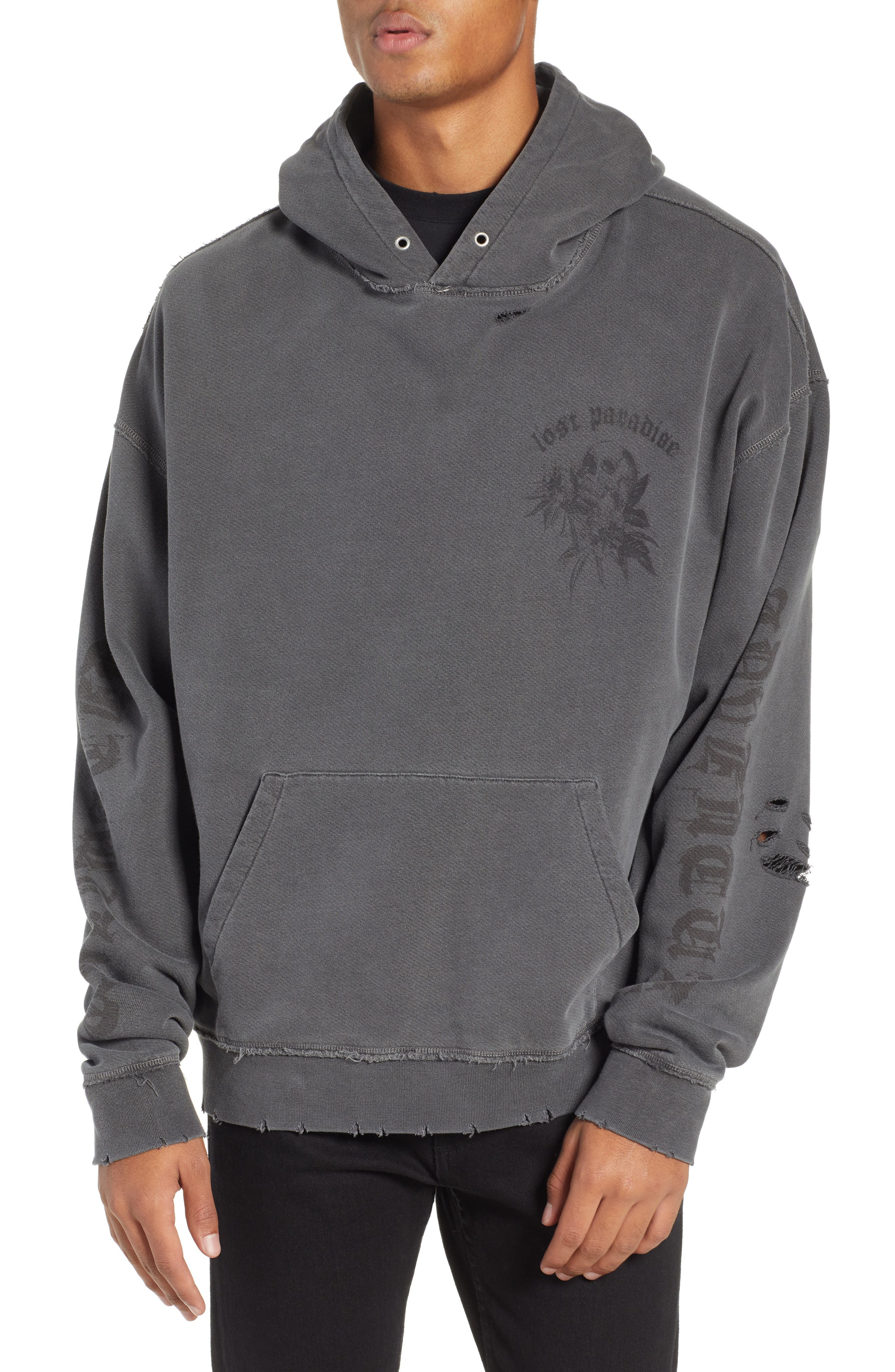 THE KOOPLES, Oversize Hoodie, Main thumbnail 1, color, 050
