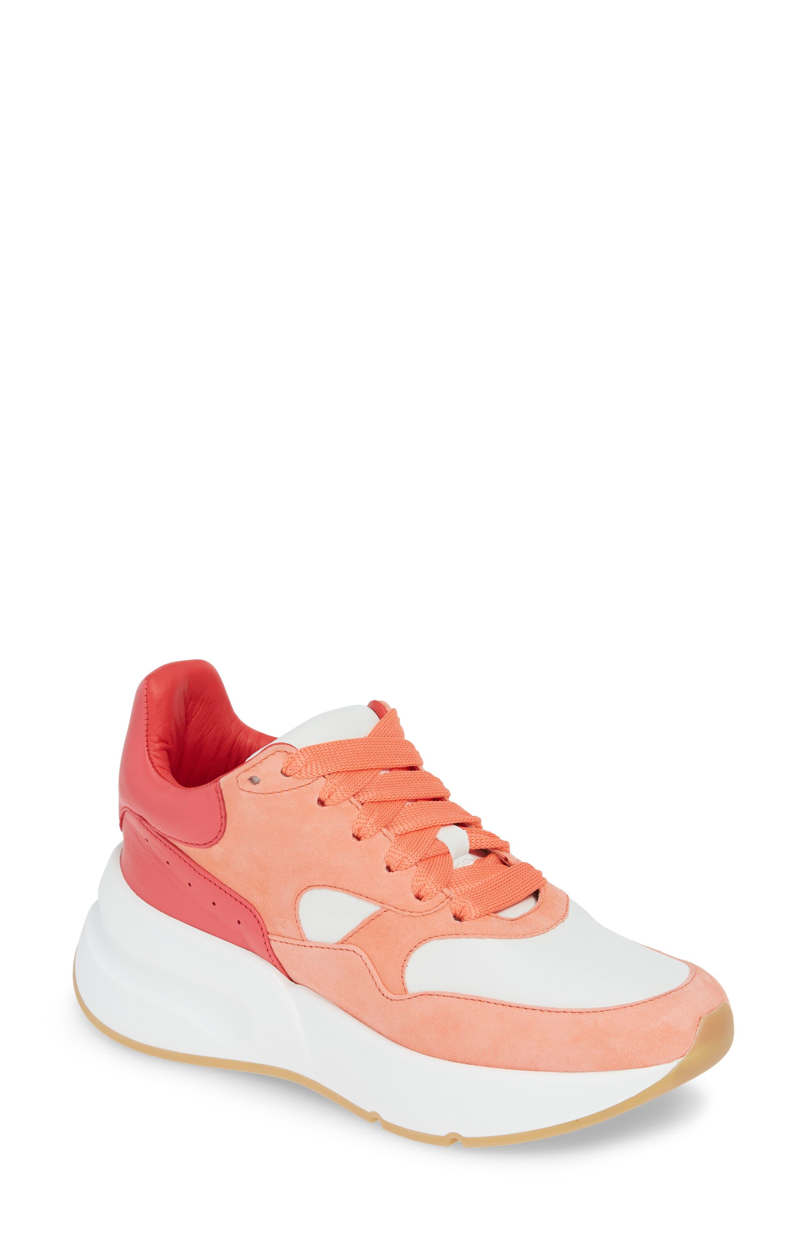 a1d3957a8 Alexander Mcqueen Lace-Up Platform Sneaker - Coral