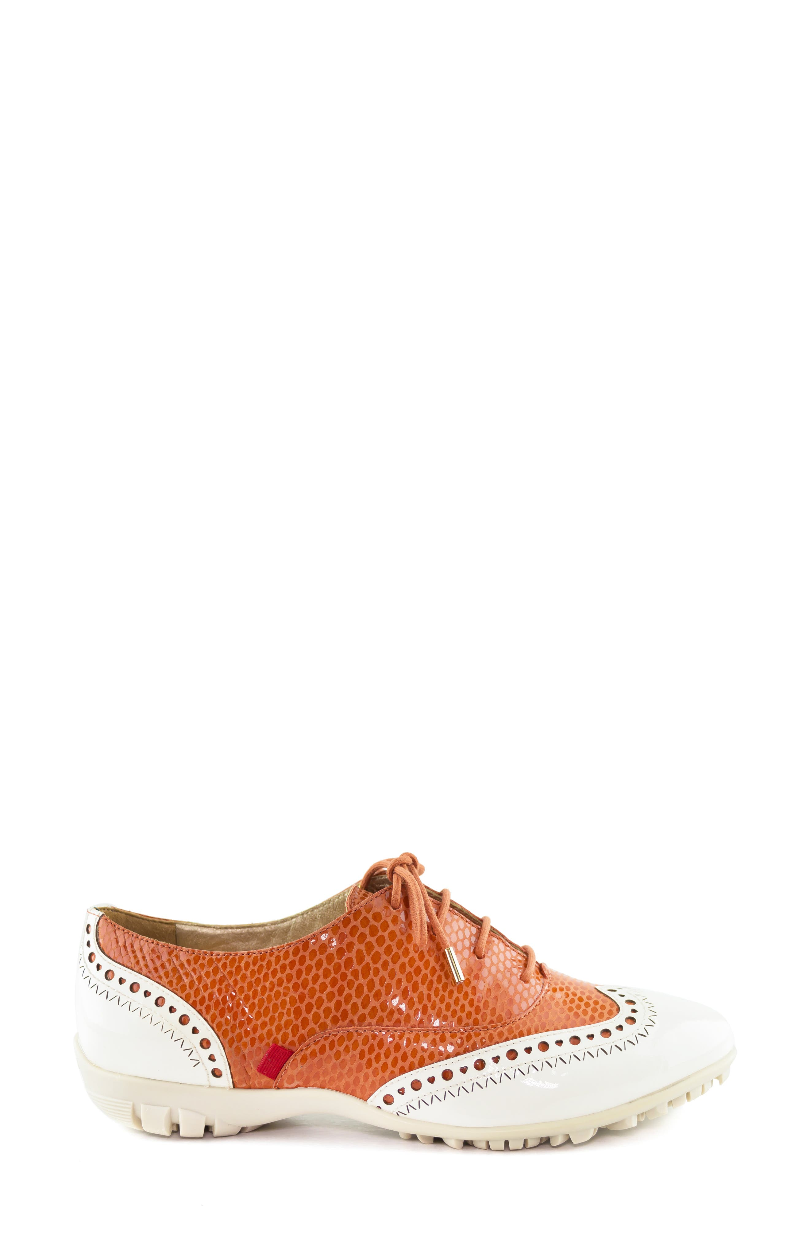MARC JOSEPH NEW YORK, NYC Golf Loafer, Alternate thumbnail 3, color, CORAL SNAKE PRINT LEATHER