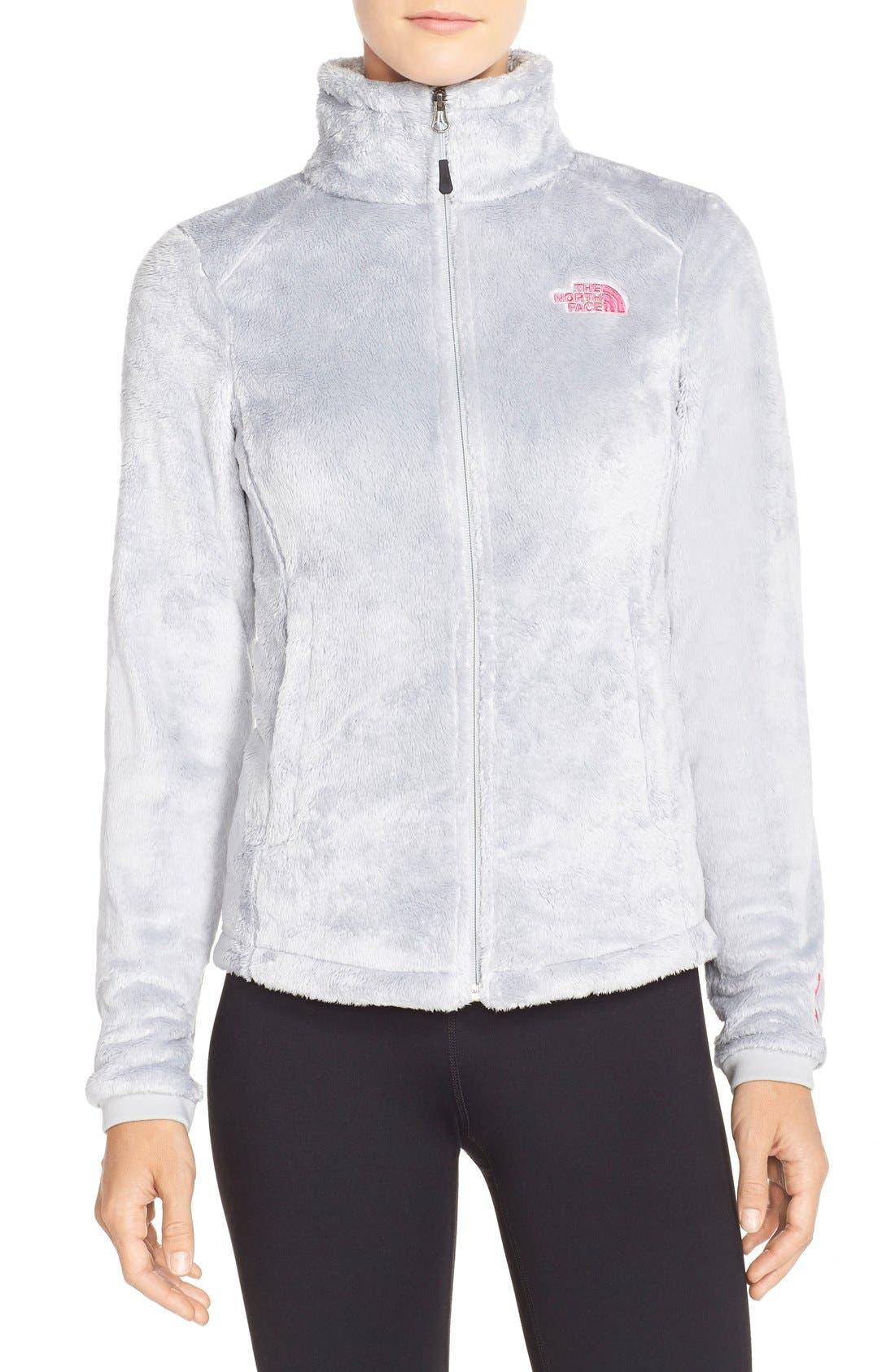THE NORTH FACE, 'Osito 2 - Pink Ribbon' Fleece Jacket, Main thumbnail 1, color, 030