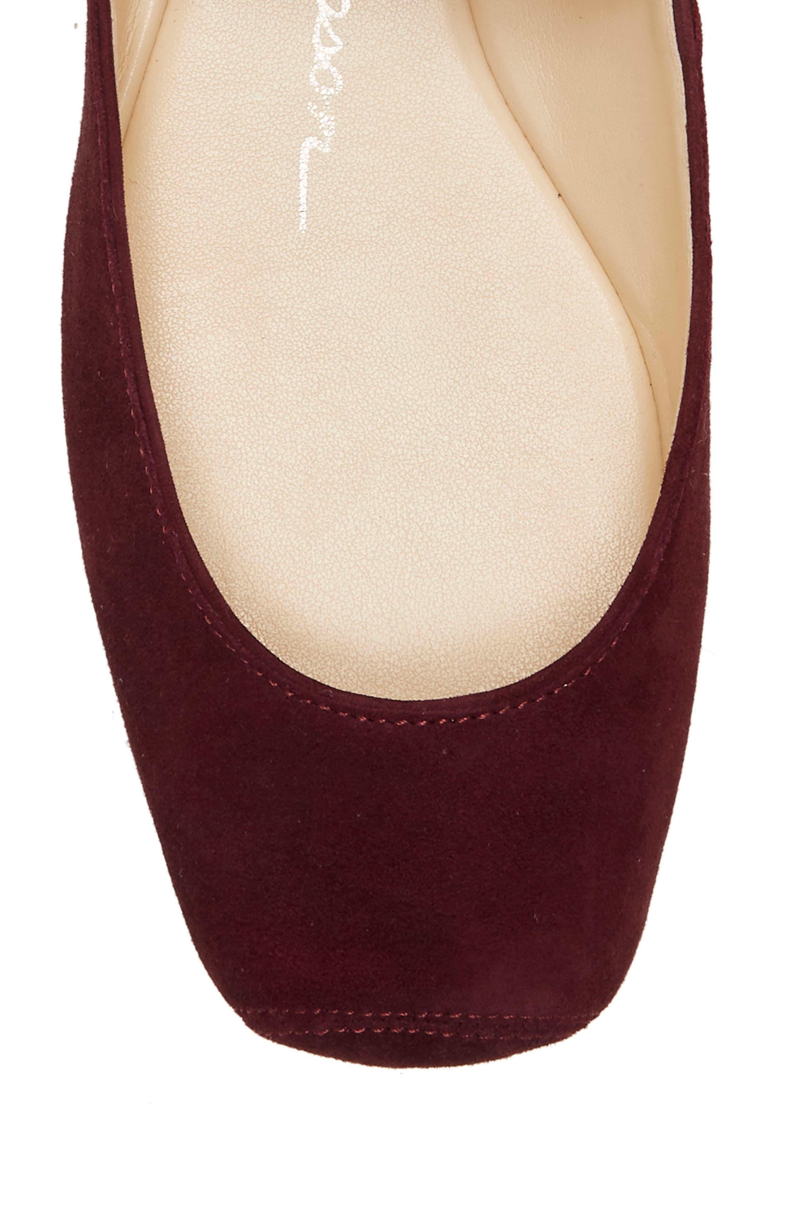 JESSICA SIMPSON, 'Mandalaye' Leather Flat, Alternate thumbnail 8, color, 501