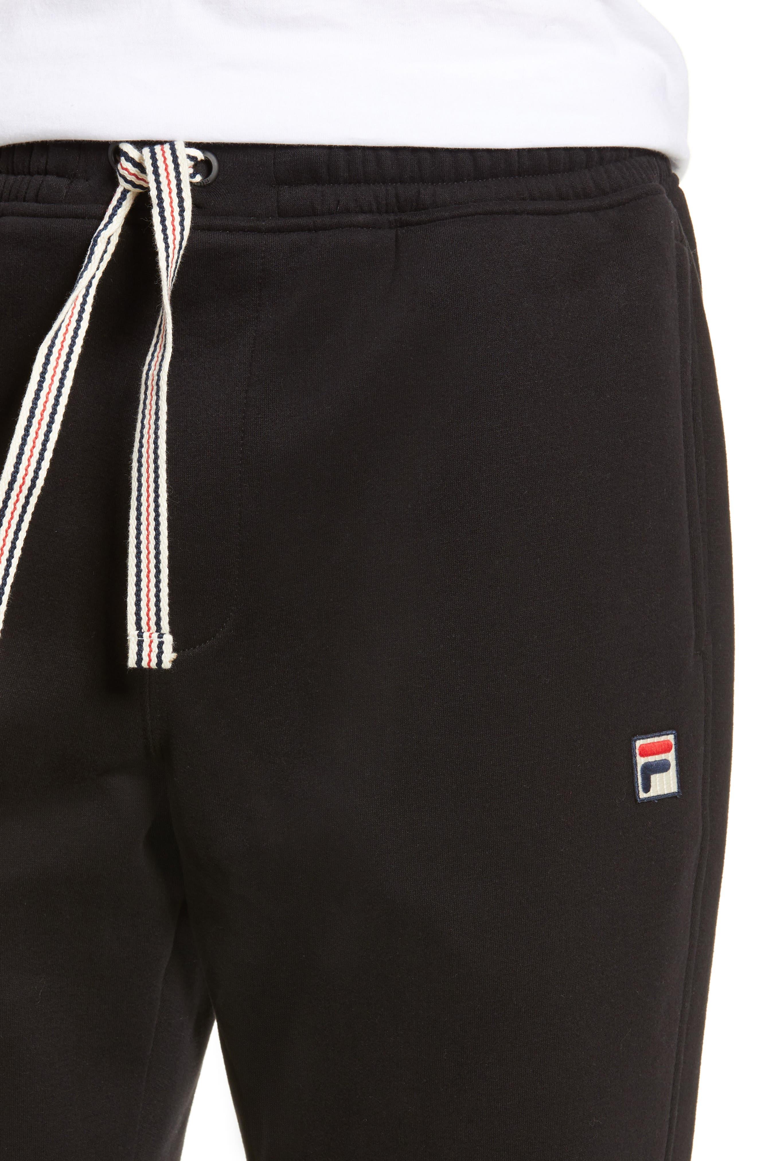 FILA, Jogger Pants, Alternate thumbnail 4, color, BLACK