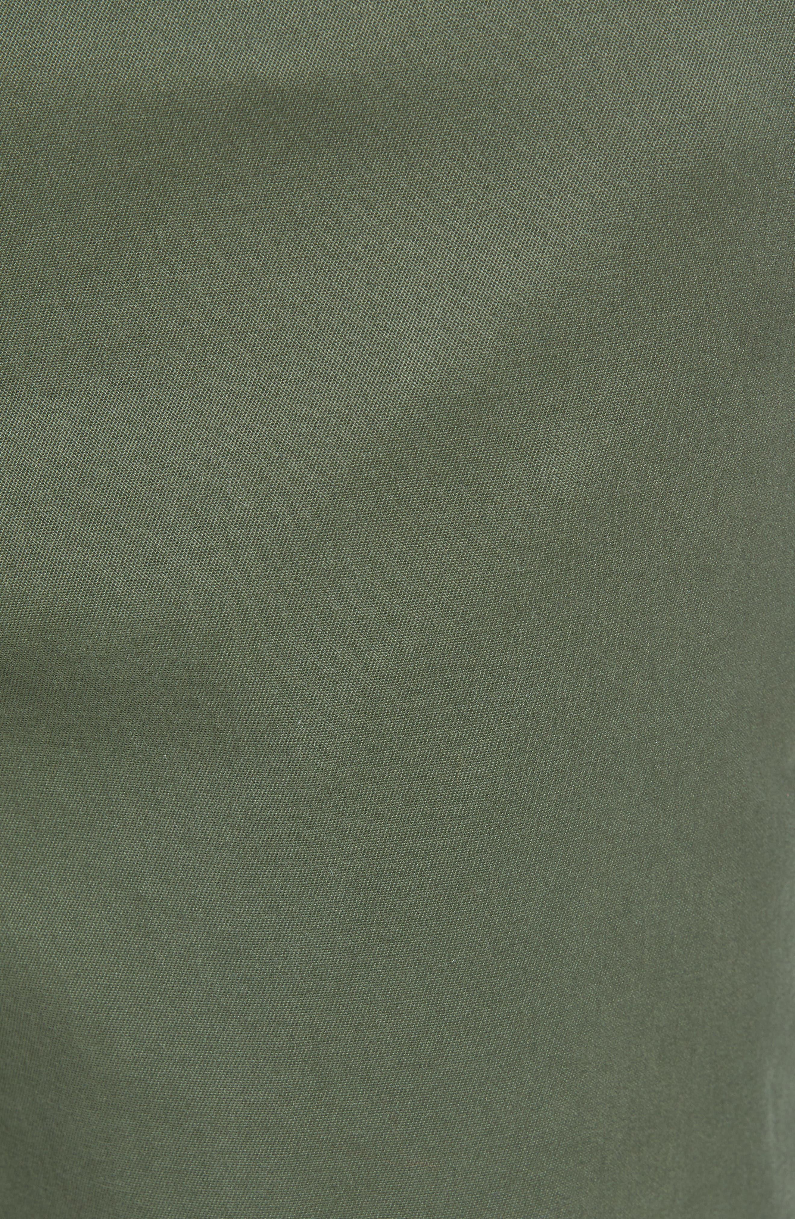 VINEYARD VINES, Breaker Flat Front Stretch Cotton Pants, Alternate thumbnail 6, color, CARGO GREEN