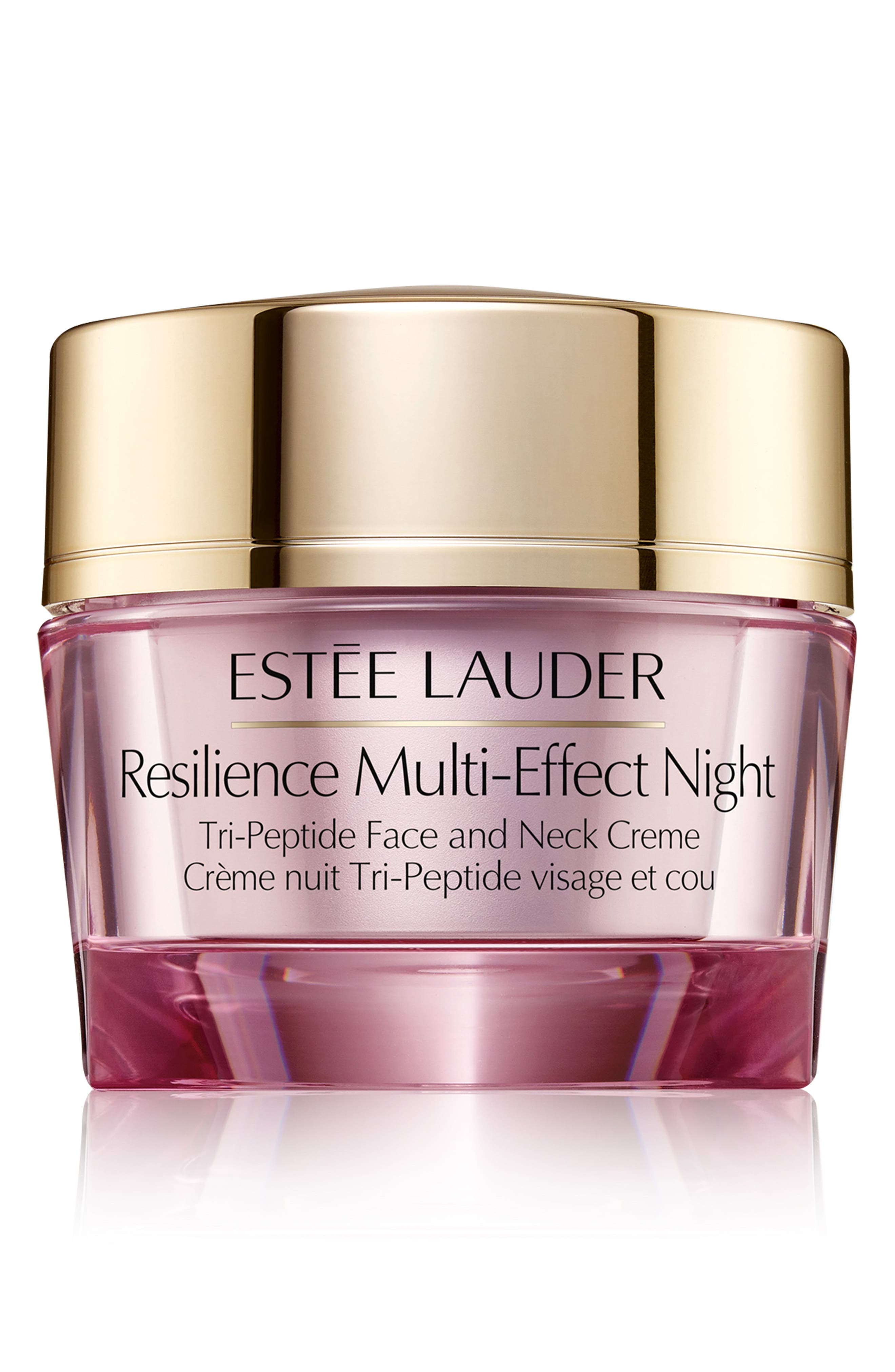 ESTÉE LAUDER, Resilience Multi-Effect Night Tri-Peptide Face and Neck Creme, Main thumbnail 1, color, NO COLOR