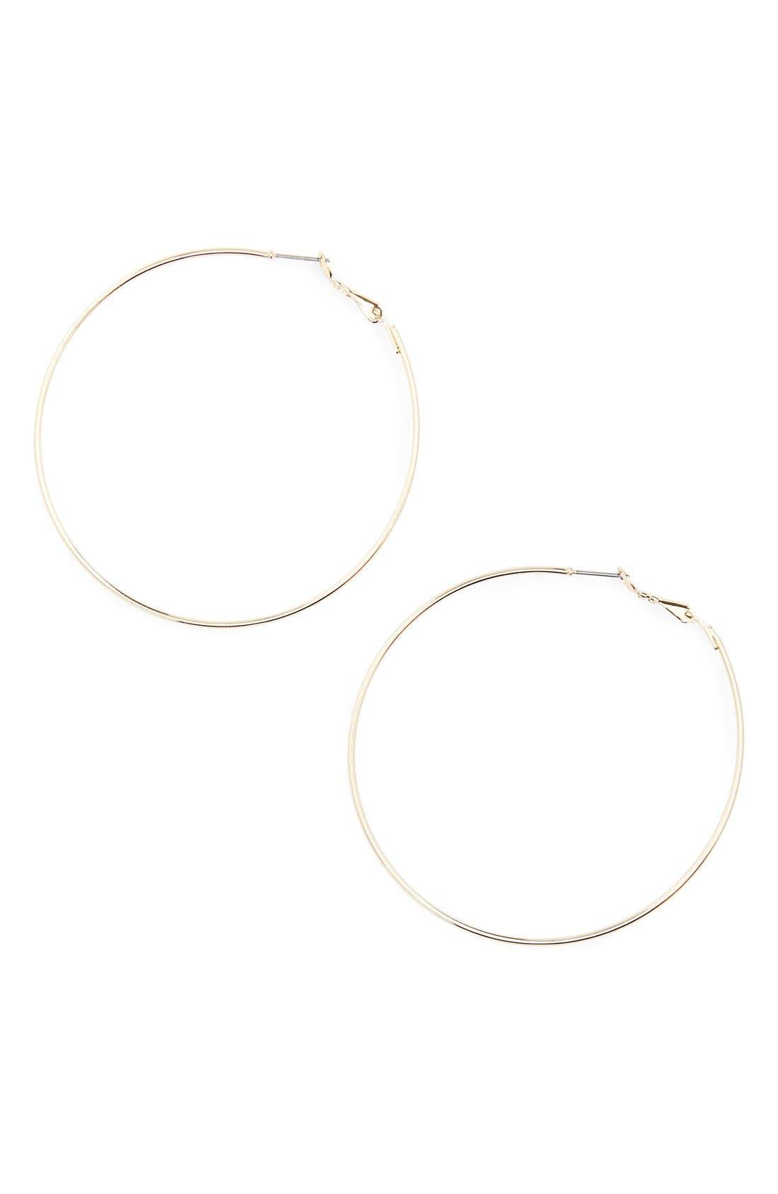 BP., Large Hoop Earrings, Main thumbnail 1, color, GOLD