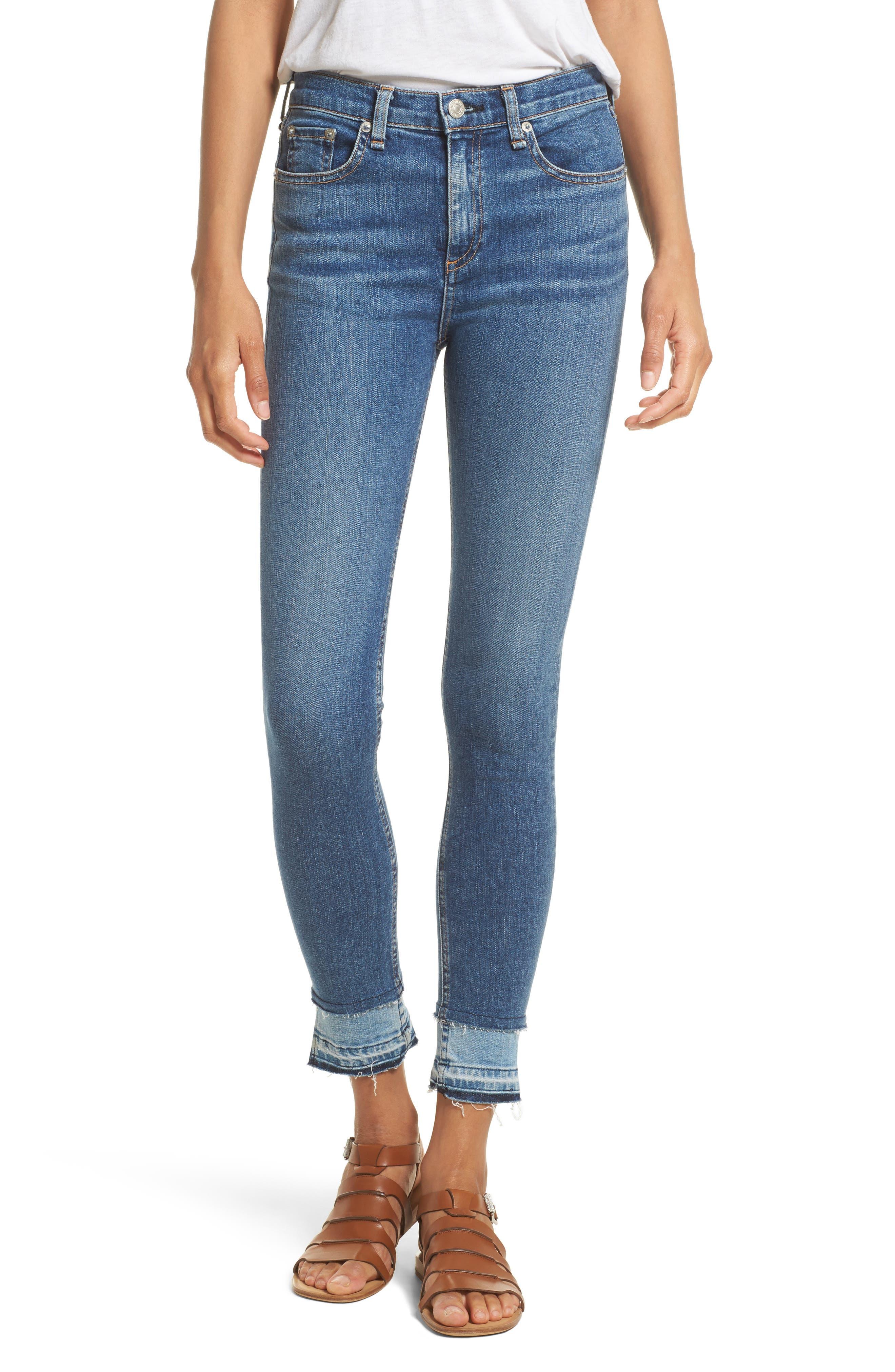RAG & BONE, High Waist Ankle Skinny Jeans, Main thumbnail 1, color, 427