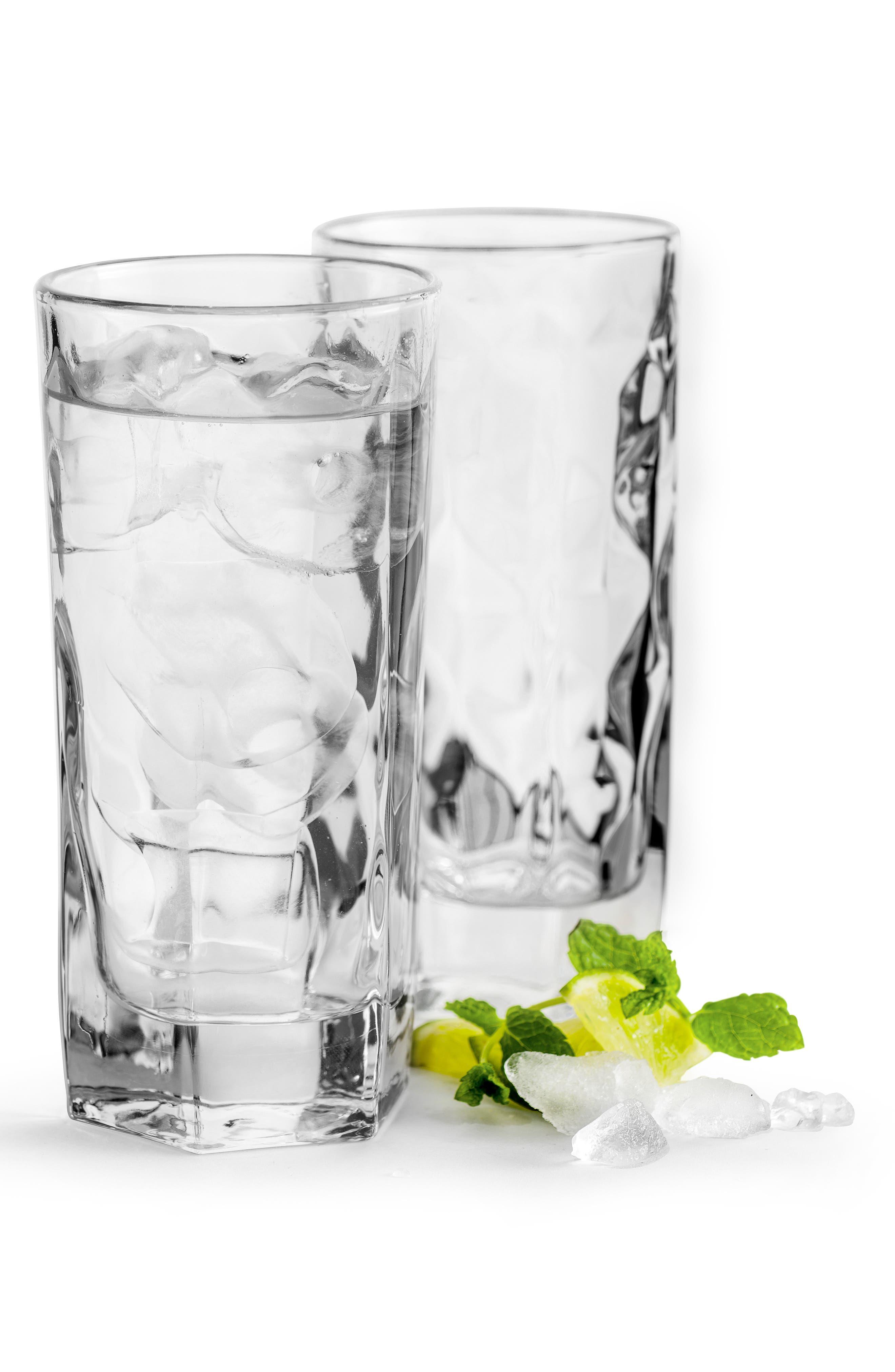 SAGAFORM, Set of 2 Highball Glasses, Main thumbnail 1, color, CLEAR