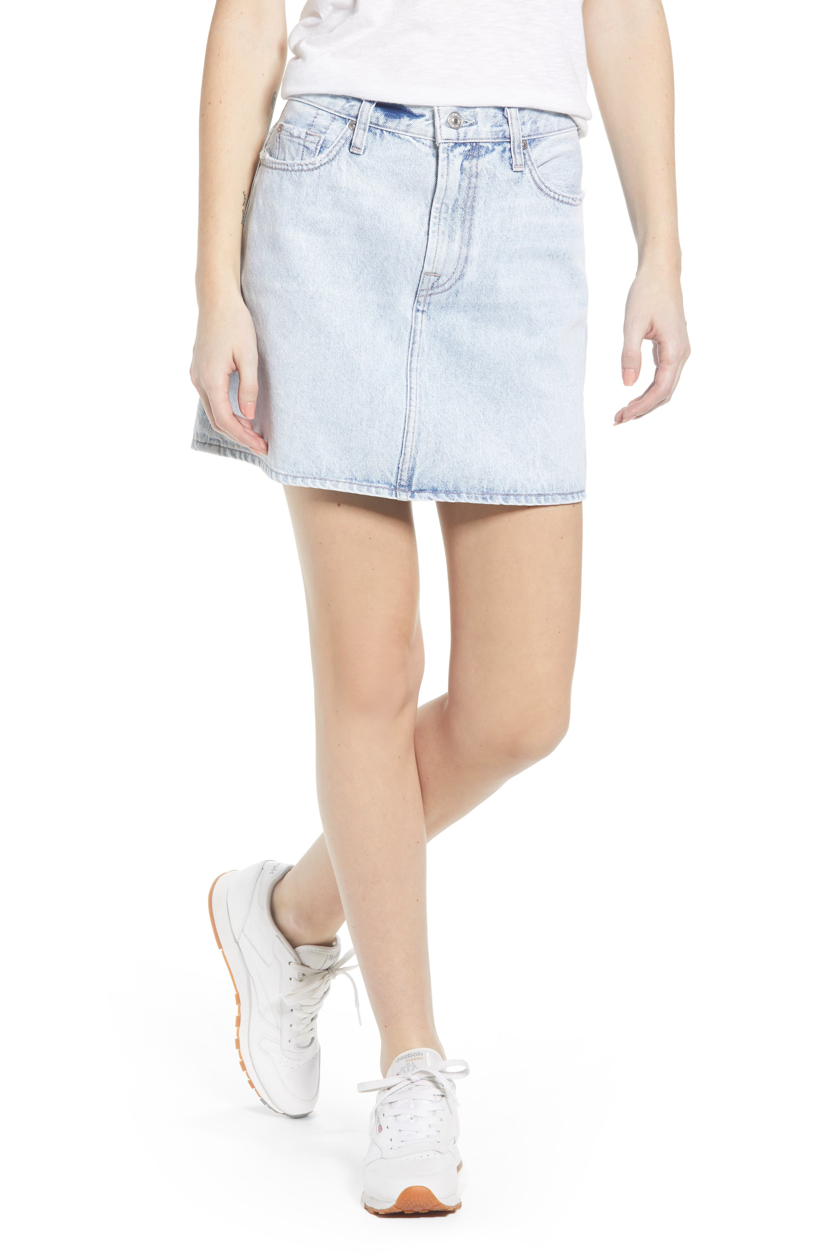7 FOR ALL MANKIND<SUP>®</SUP> Miniskirt, Main, color, CLOUD BLUE