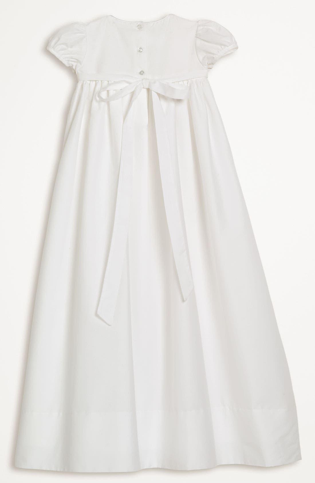 LITTLE THINGS MEAN A LOT, Gown & Bonnet, Alternate thumbnail 2, color, WHITE