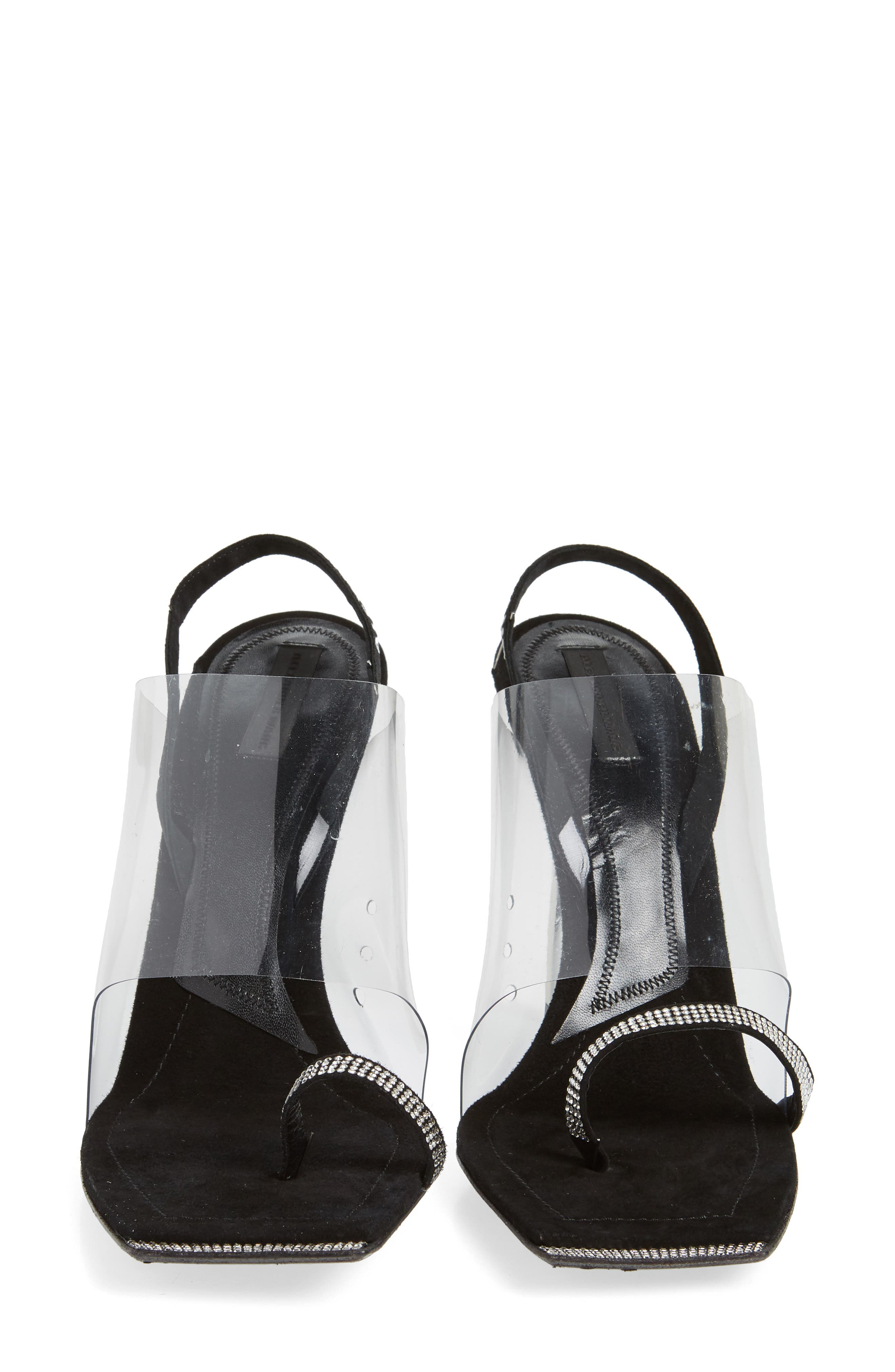 ALEXANDER WANG, Clear Shield Sandal, Alternate thumbnail 5, color, BLACK