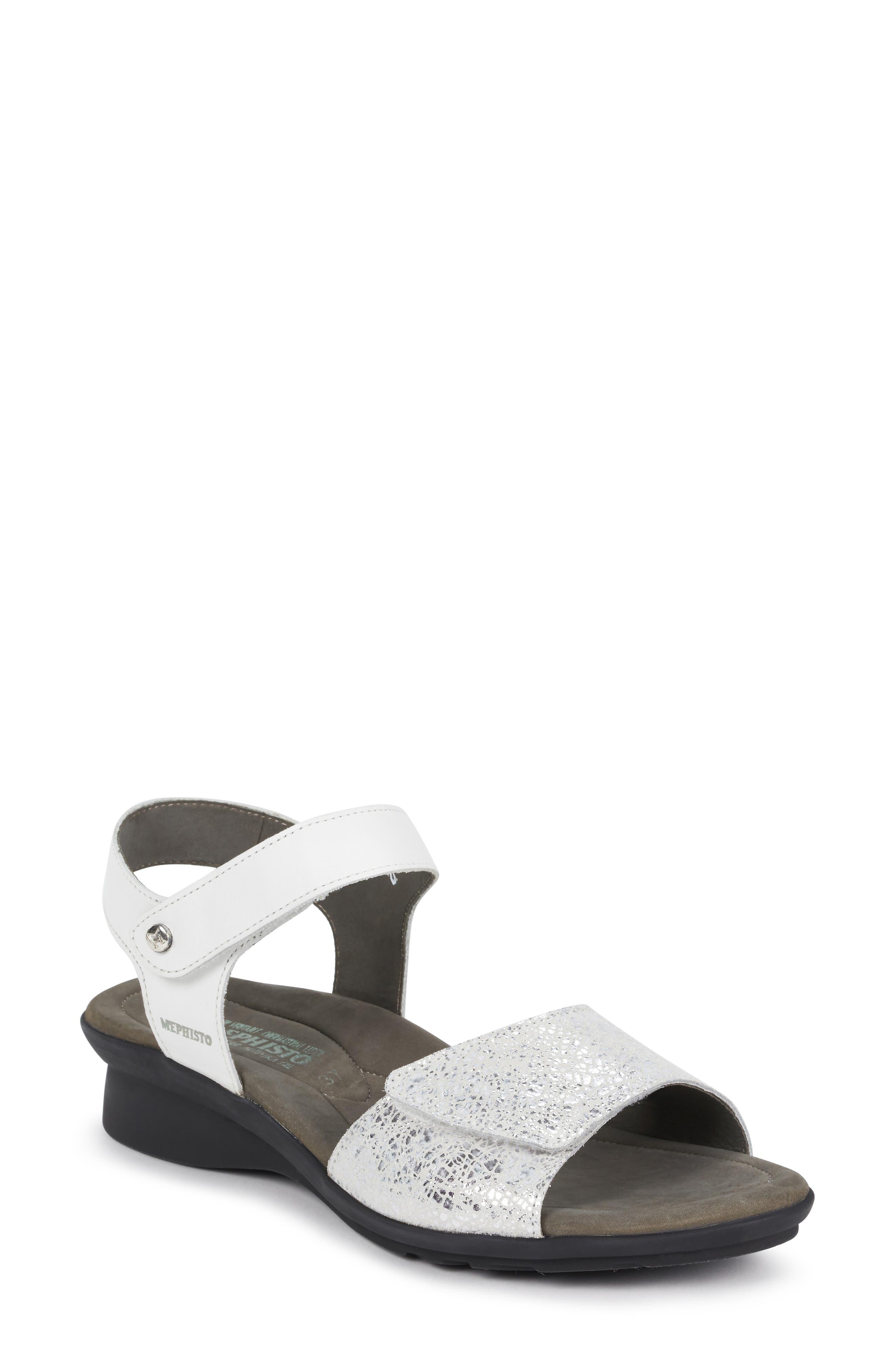 MEPHISTO Pattie Sandal, Main, color, WHITE