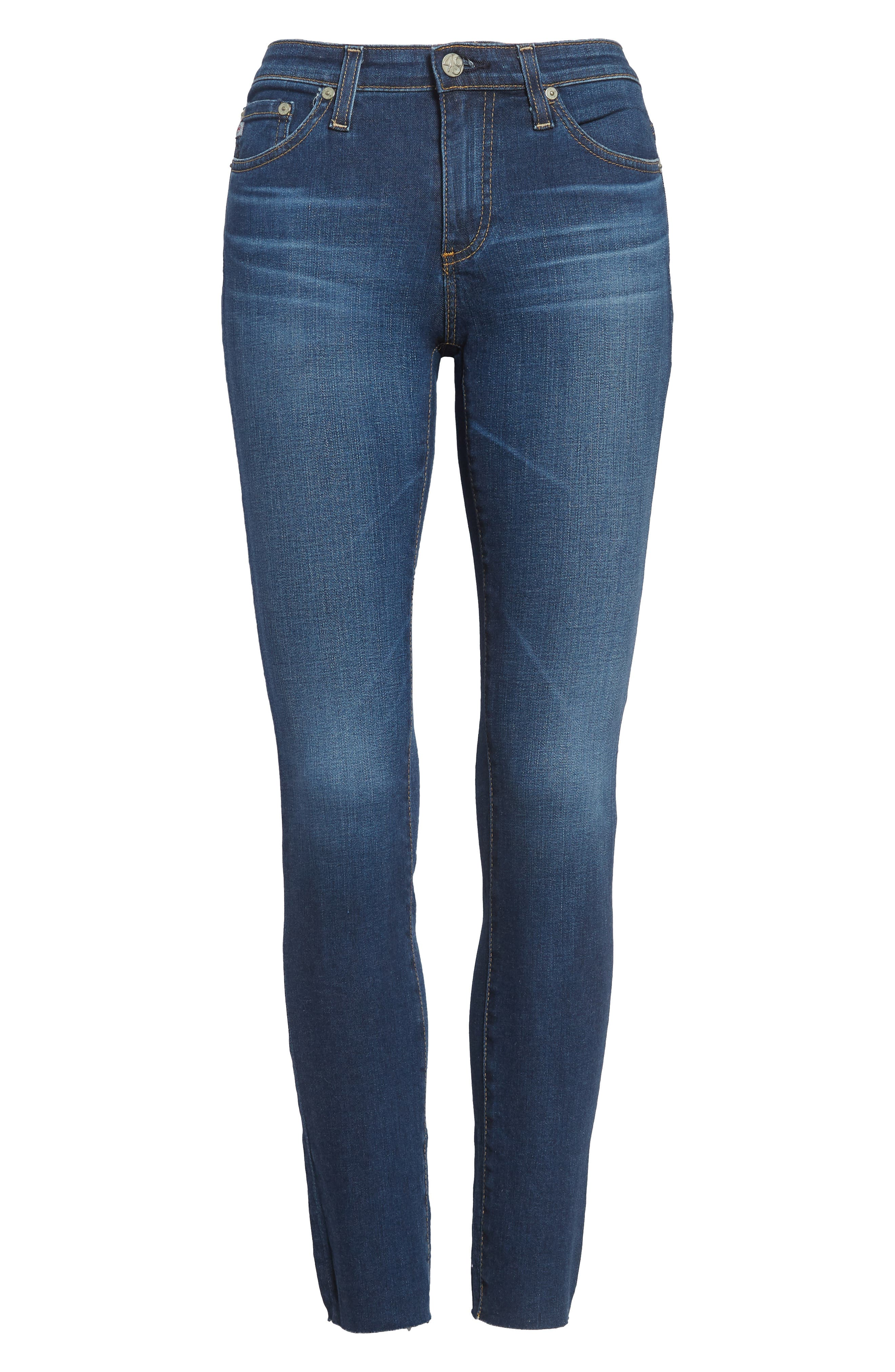 AG, 'The Legging' Ankle Jeans, Main thumbnail 1, color, 7YR BREAK W/ RAW HEM