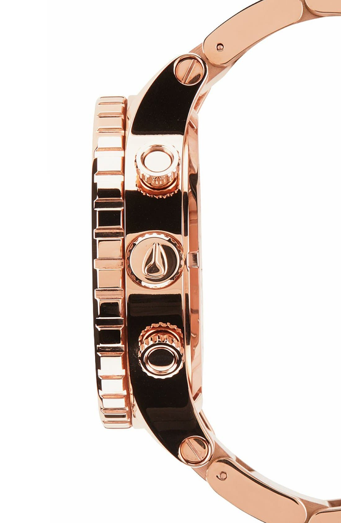 NIXON, 'The 51-30 Chrono' Watch, 51mm, Alternate thumbnail 4, color, ROSE GOLD