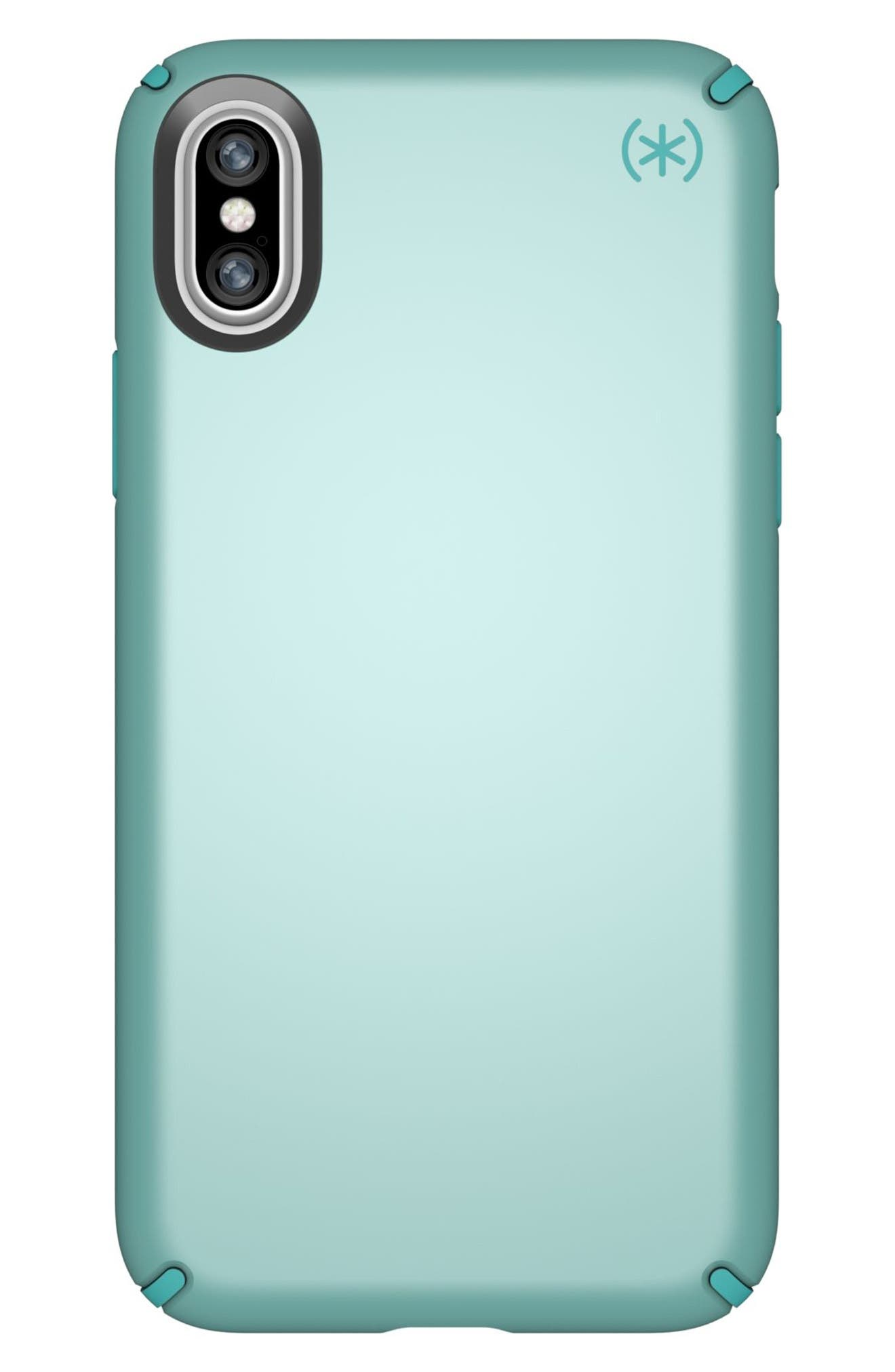SPECK, iPhone X & Xs Case, Main thumbnail 1, color, PEPPERMINT GREEN / TEAL