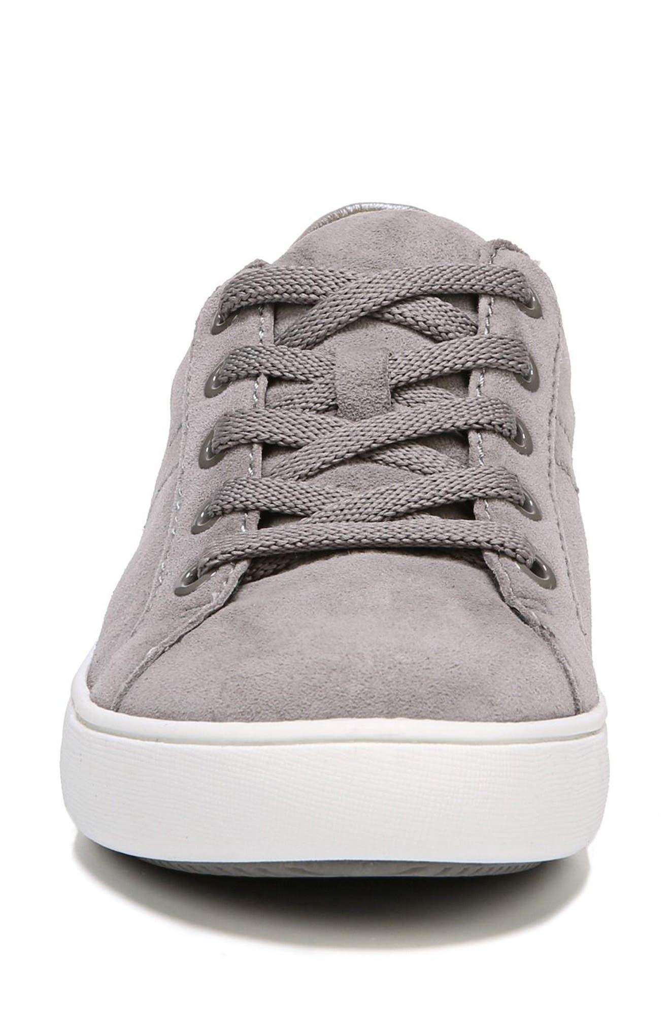 NATURALIZER, Morrison Sneaker, Alternate thumbnail 4, color, GREY SUEDE