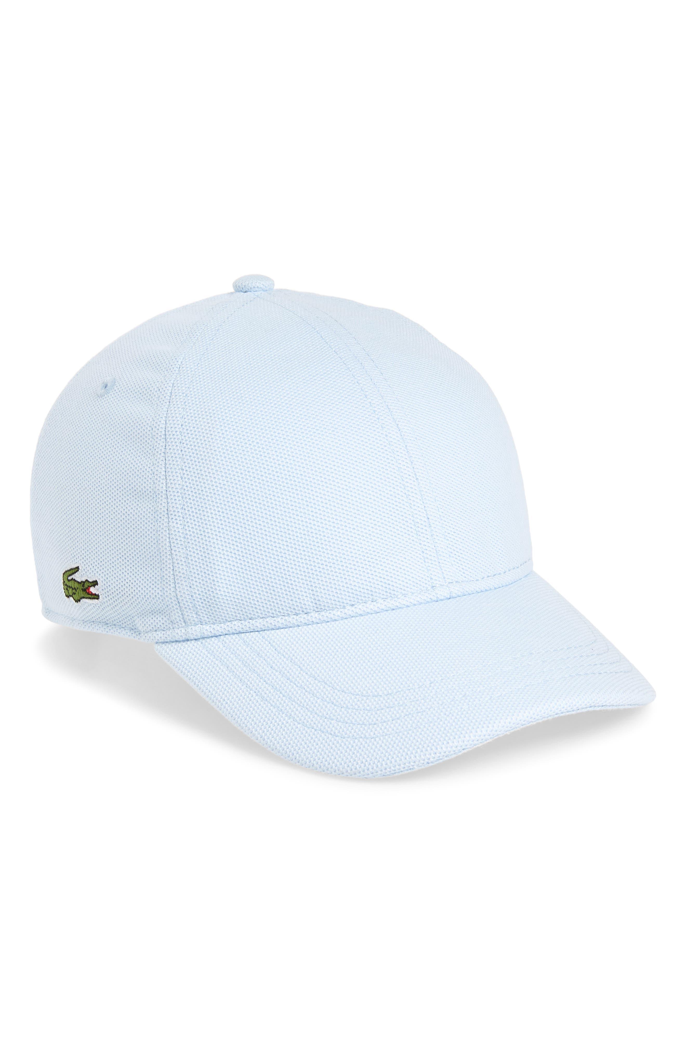 LACOSTE, Croc Cotton Baseball Cap, Main thumbnail 1, color, RILL