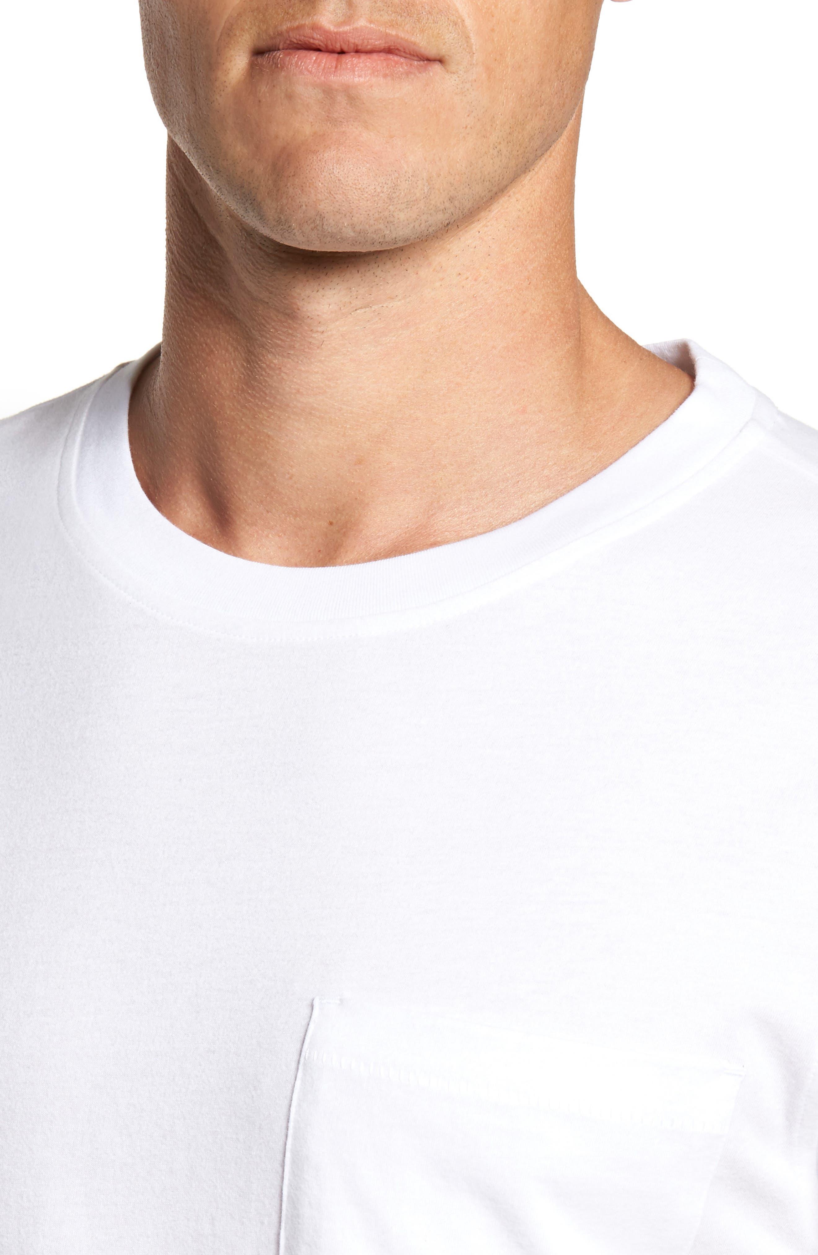 UGG<SUP>®</SUP>, Benjamin Crewneck T-Shirt, Alternate thumbnail 4, color, WHITE