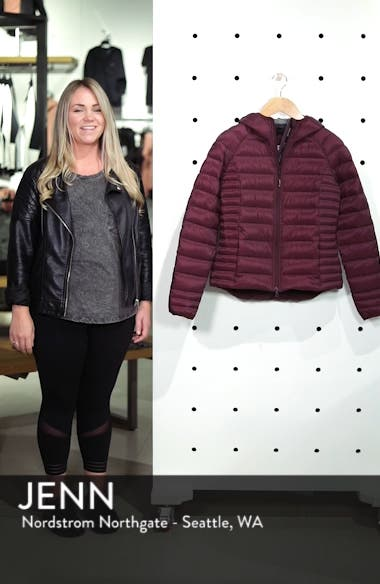 'Brookvale' Packable Hooded Quilted Down Jacket, sales video thumbnail