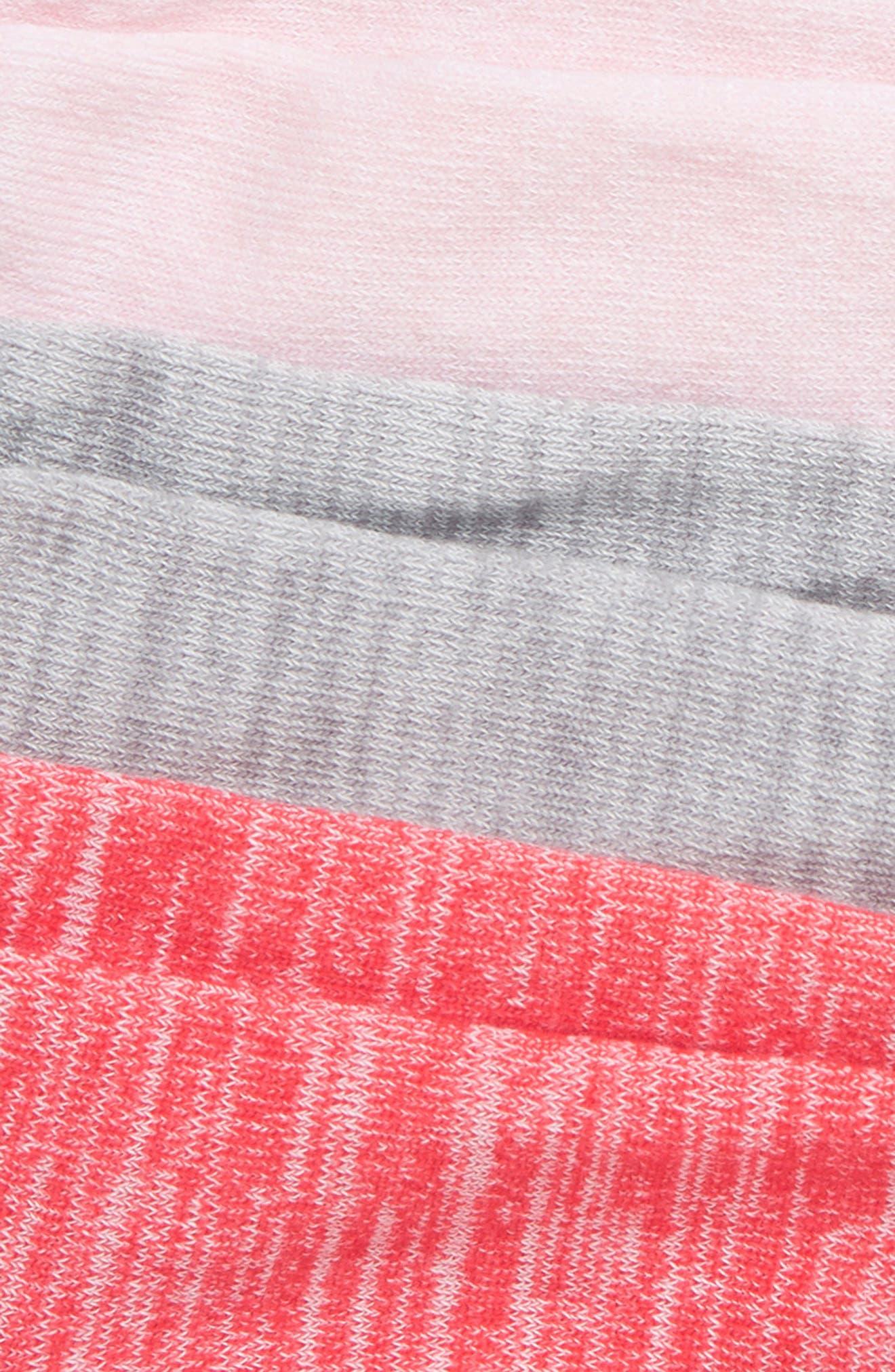ZELLA GIRL, 6-Pack Ankle Socks, Alternate thumbnail 2, color, PINK TEABERRY MULTI