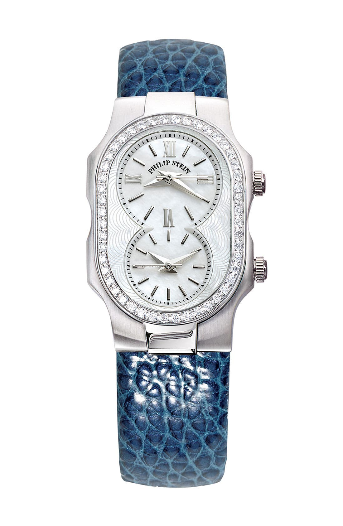 PHILIP STEIN<SUP>®</SUP>, 'Signature' Small Diamond Watch Case, Main thumbnail 1, color, 040
