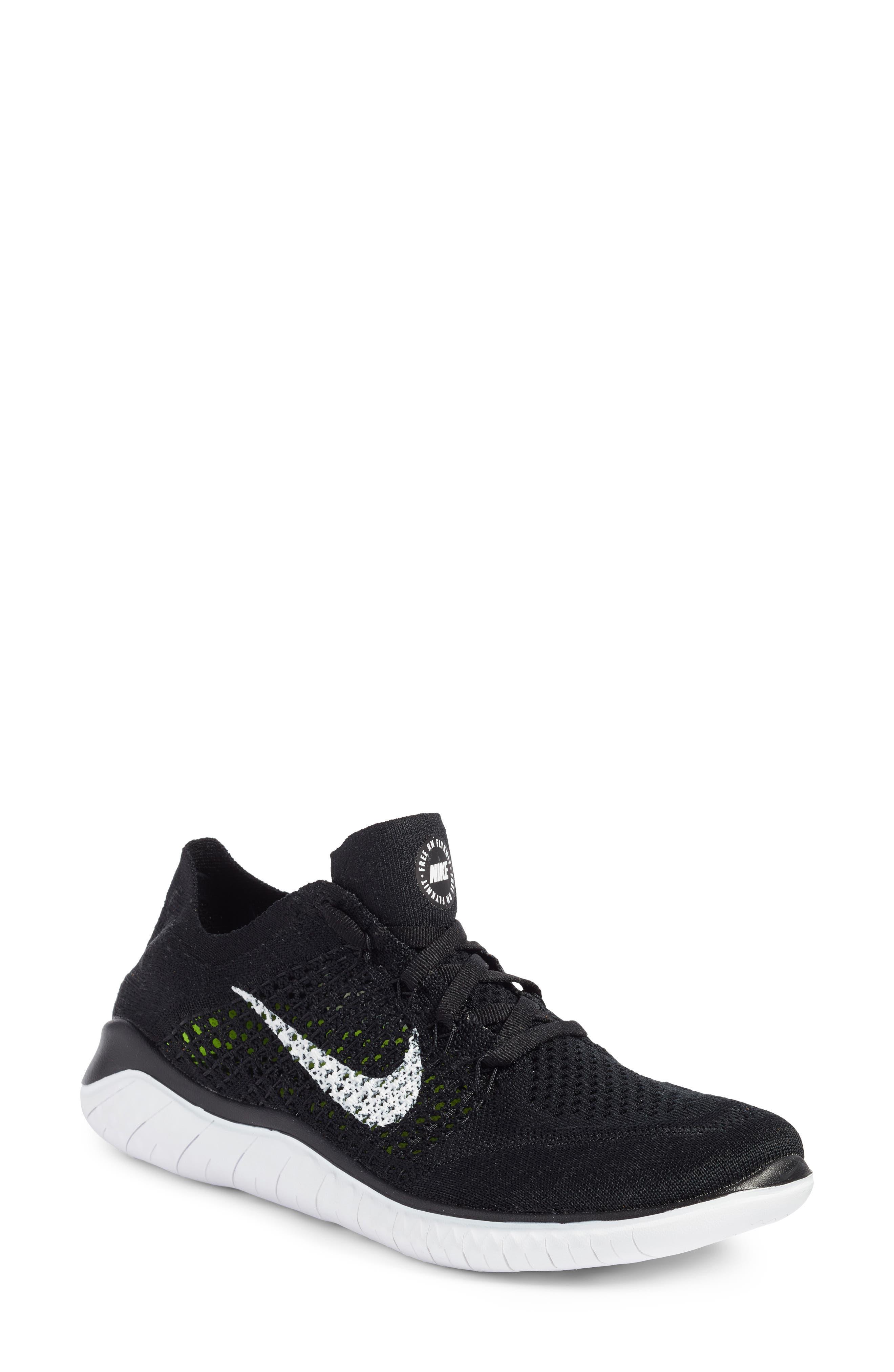 deba86c56 Nike Free Rn Flyknit 2018 Running Shoe- Black