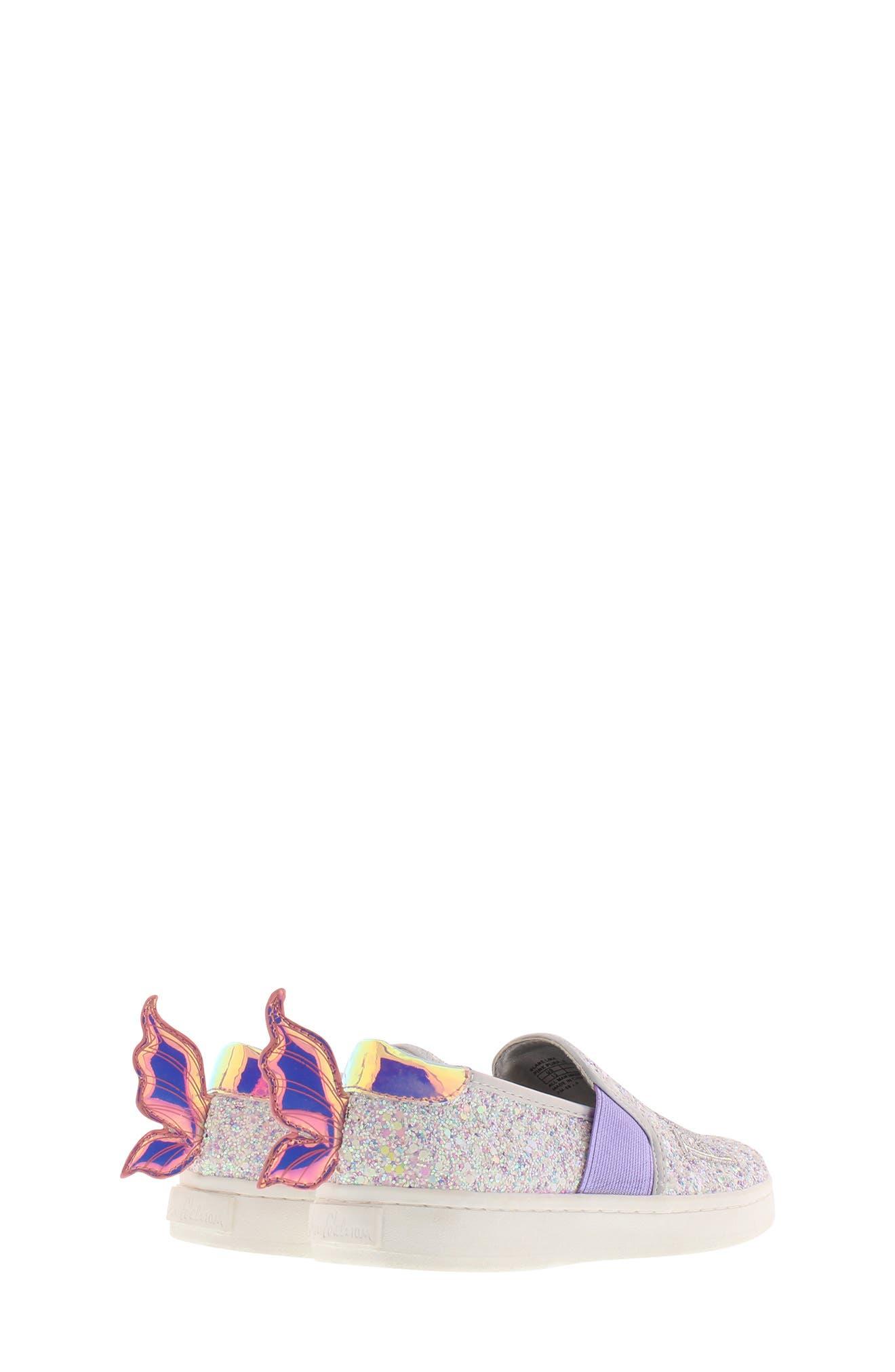 SAM EDELMAN, Blake Lina Fairy Glitter Slip-On Sneaker, Alternate thumbnail 2, color, PINK/ PURPLE