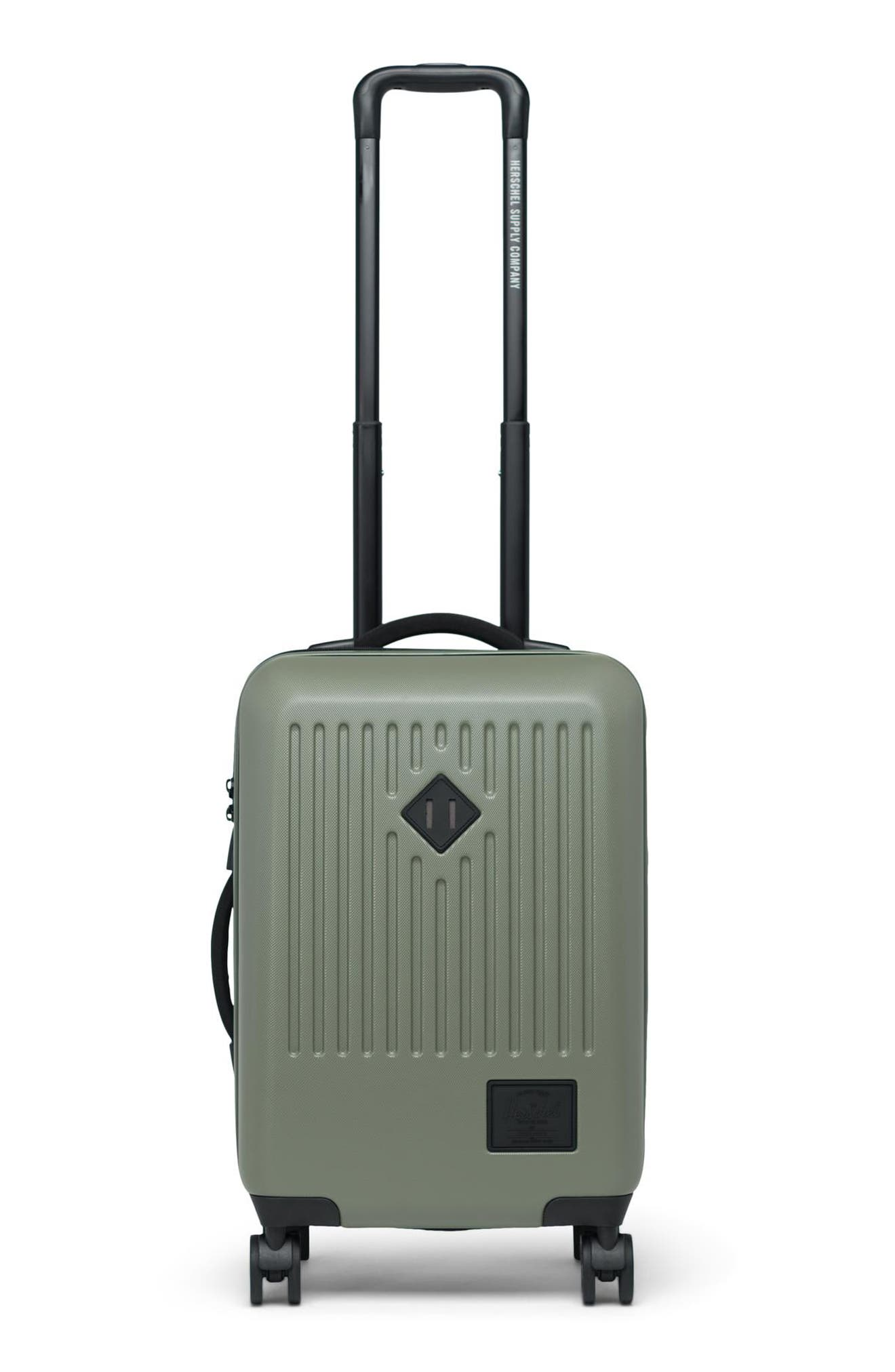 HERSCHEL SUPPLY CO. Small Trade 23-Inch Rolling Suitcase, Main, color, OLIVE NIGHT