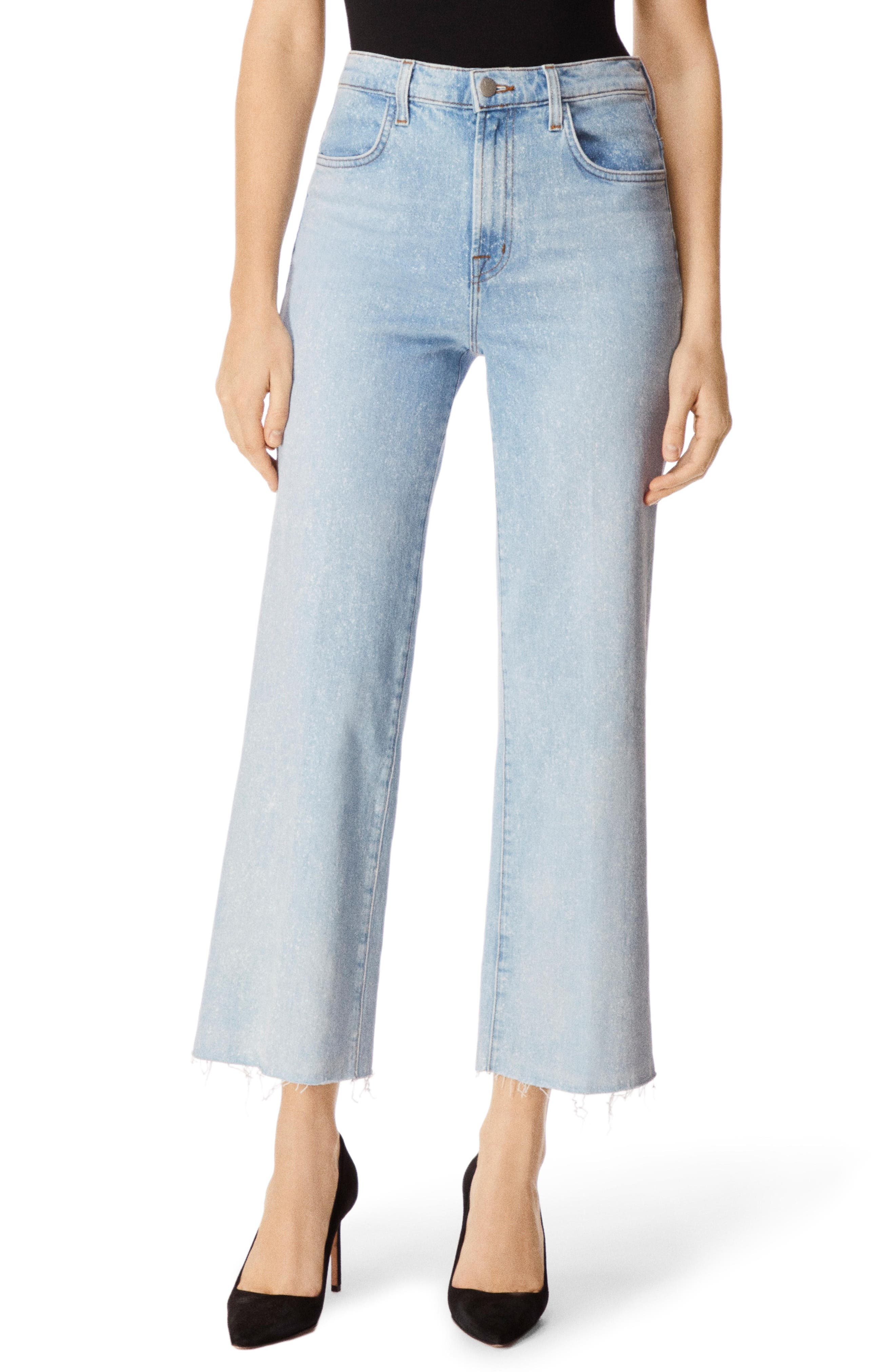 J BRAND Joan High Waist Crop Wide Leg Jeans, Main, color, AERGLO