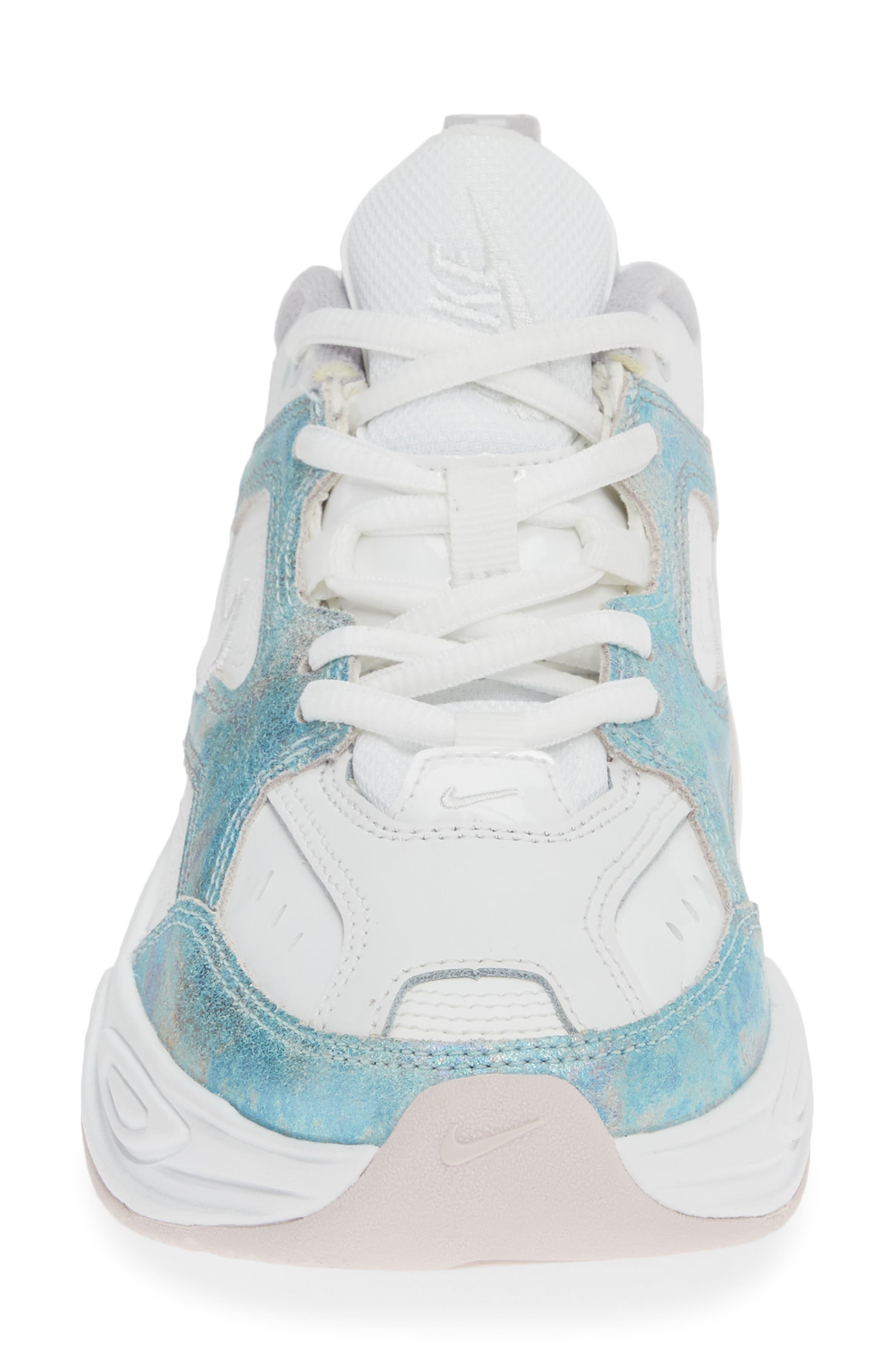 NIKE, M2K Tekno Sneaker, Alternate thumbnail 4, color, SUMMIT WHITE/ BARELY ROSE
