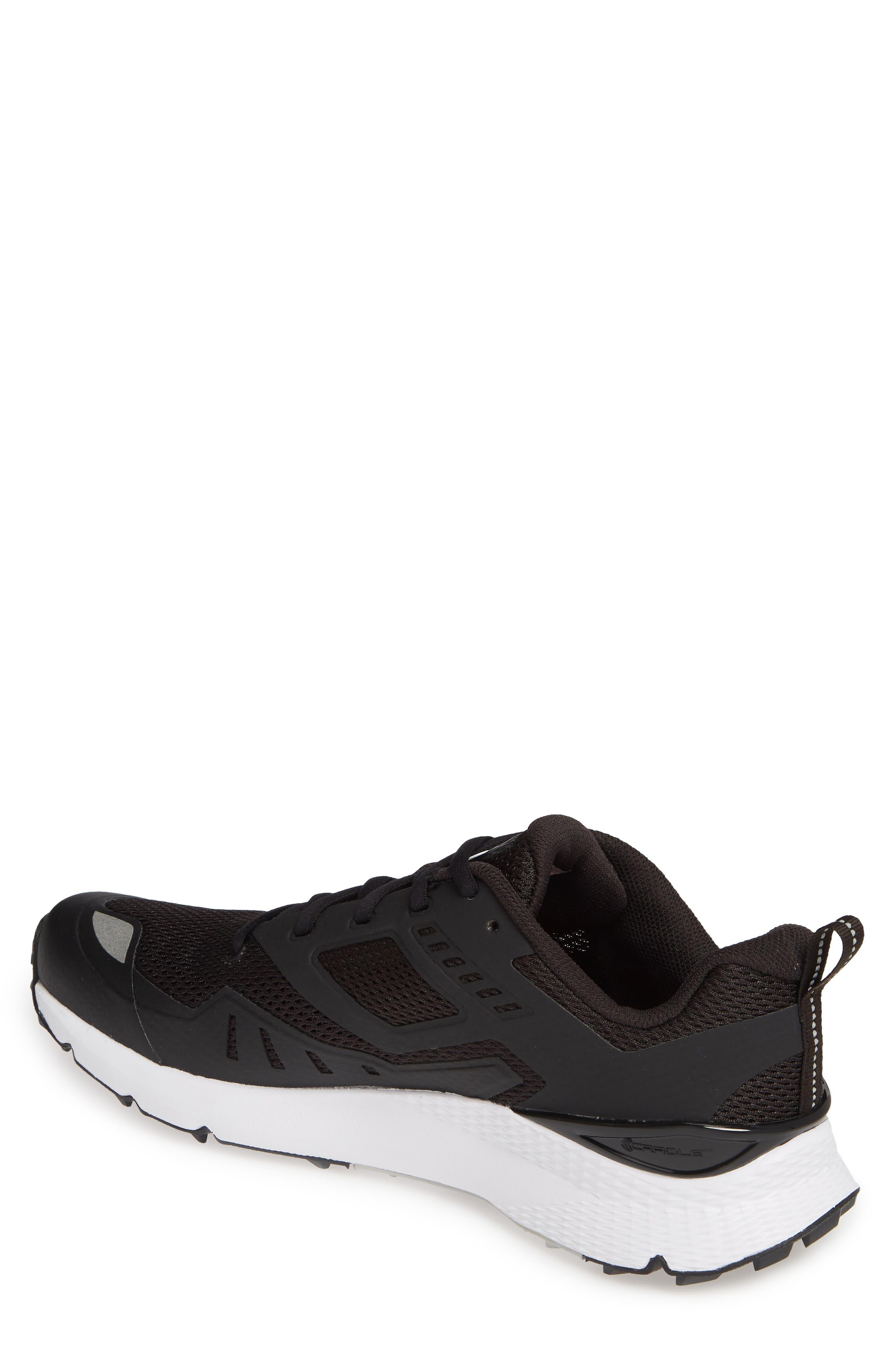 THE NORTH FACE, Rovereto Running Shoe, Alternate thumbnail 2, color, BLACK/ WHITE