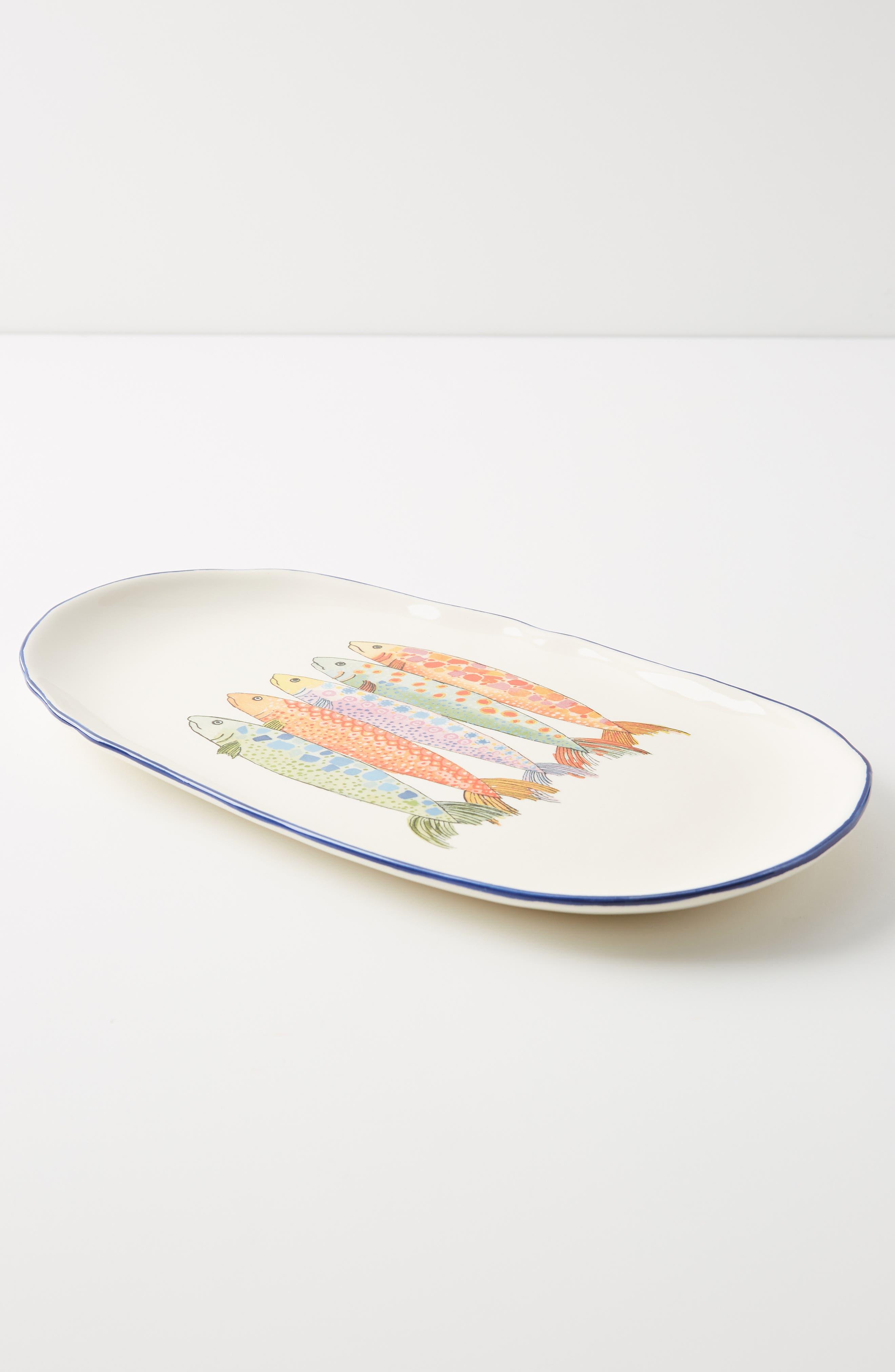 Anthropologie Sardina Small Serving Platter