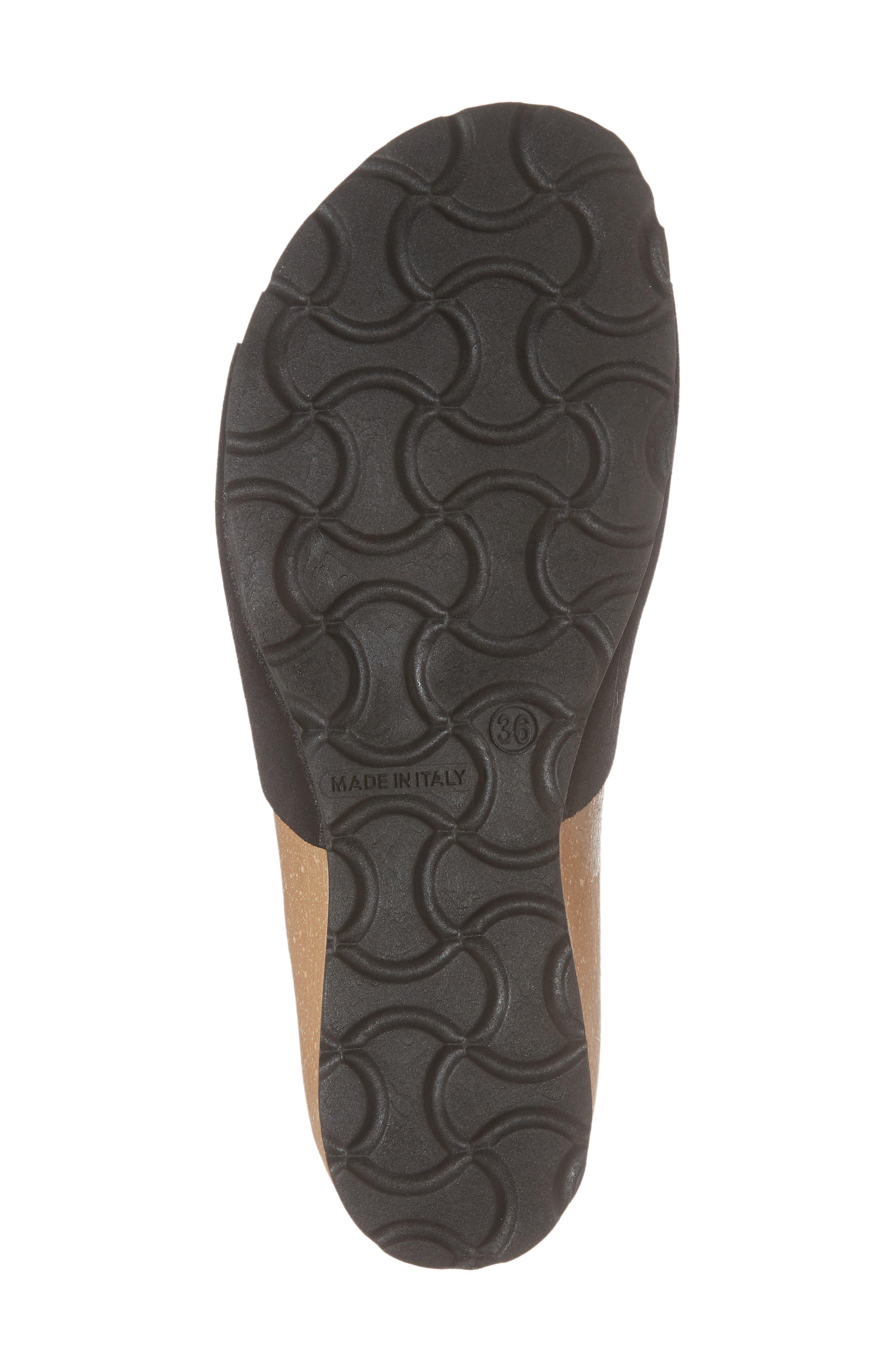 BOS. & CO., Loa Wedge Slide Sandal, Alternate thumbnail 6, color, BLACK SUEDE