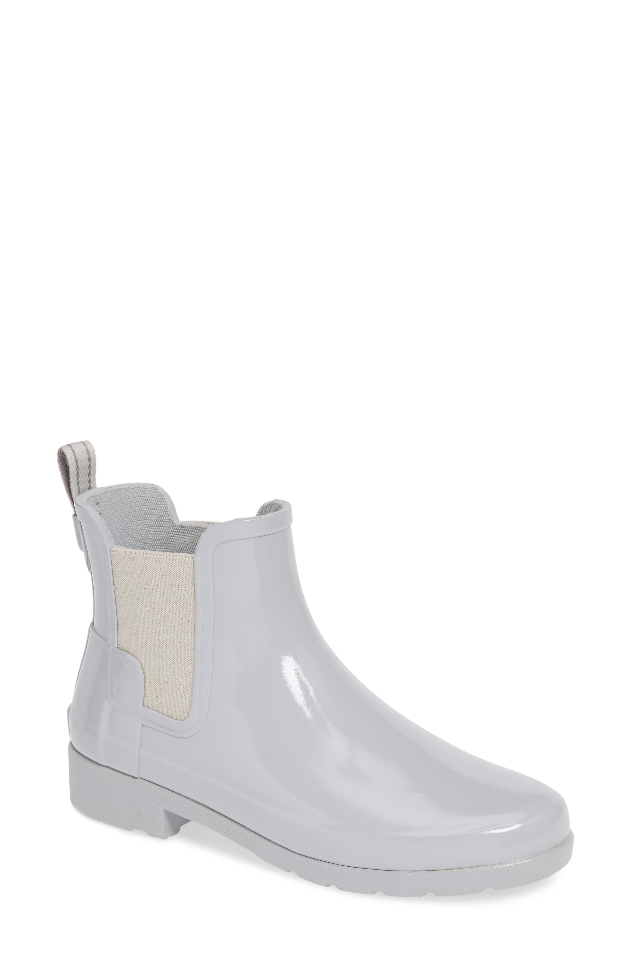 HUNTER, Original Refined Chelsea Waterproof Rain Boot, Main thumbnail 1, color, 074